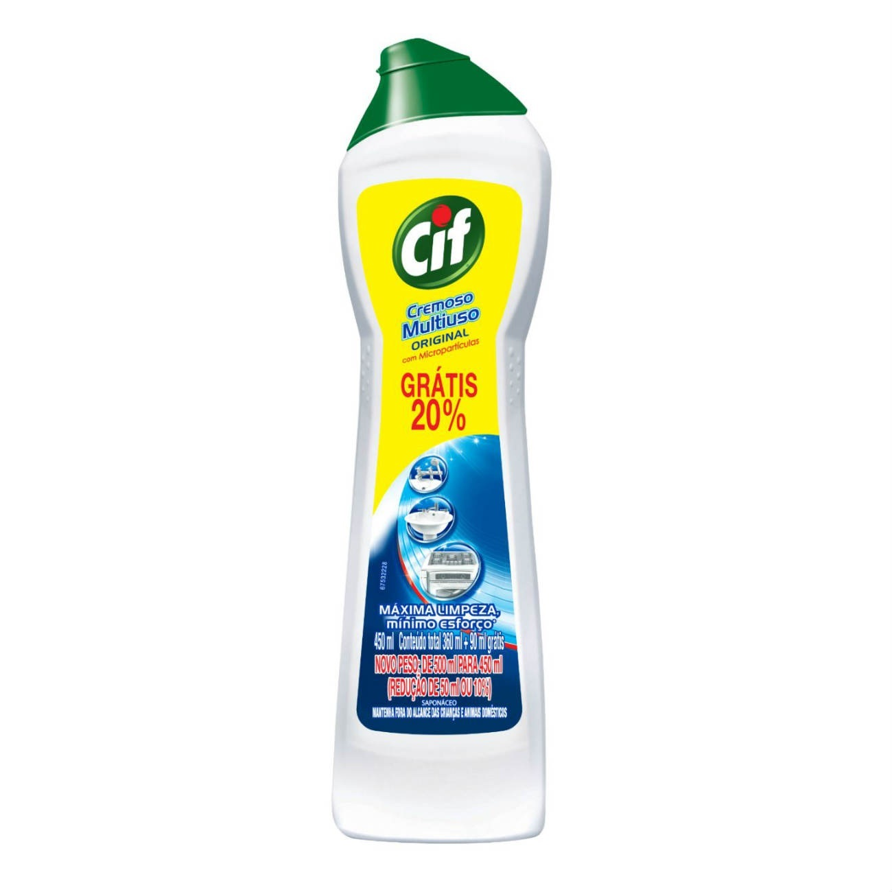 Oferta Limpador CIF Cremoso Multiuso Leve 450ml Pague 360ml 20%OFF
