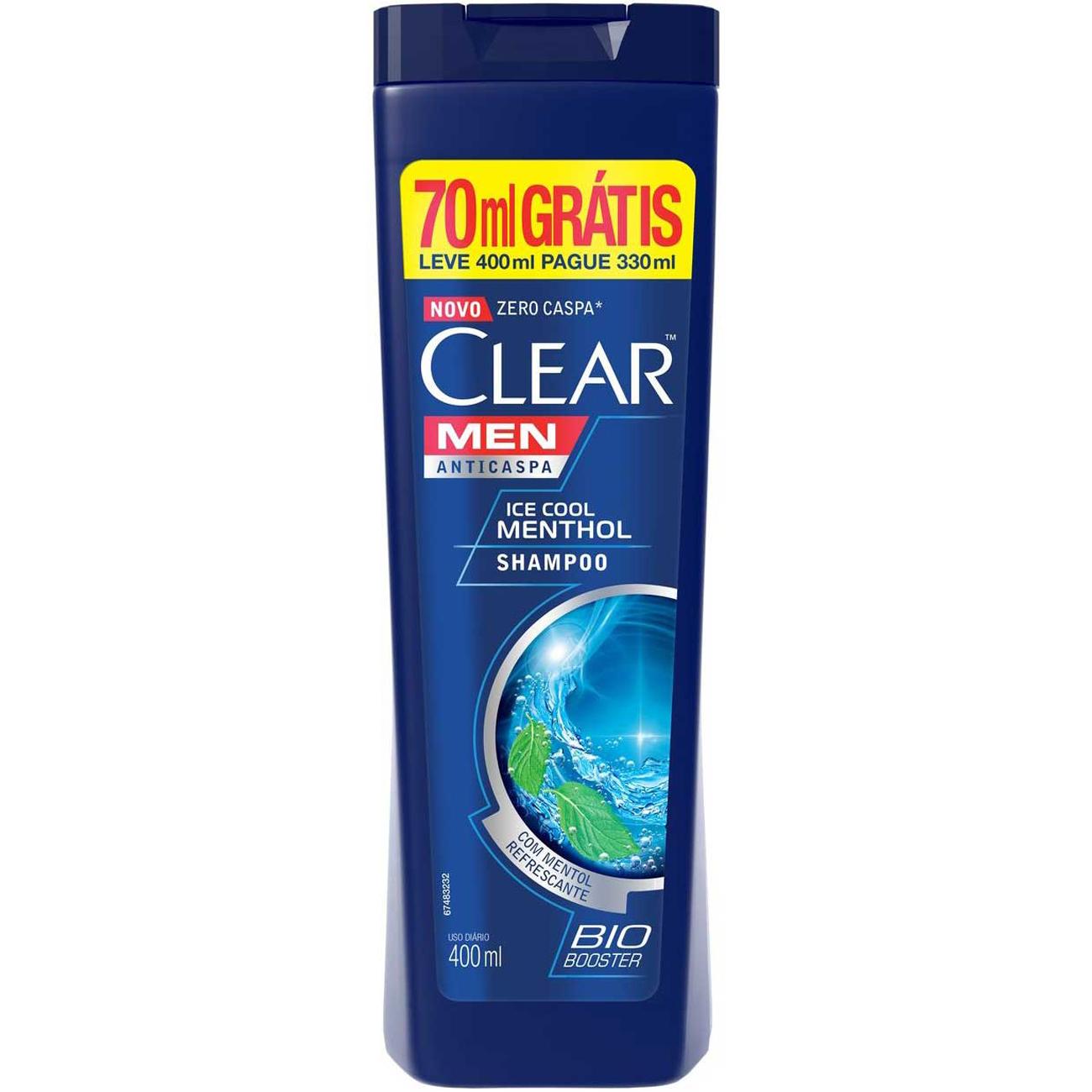 Kit Shampoo Anticaspa Clear Icecool Menthol Leve 400Ml Pague 330Ml