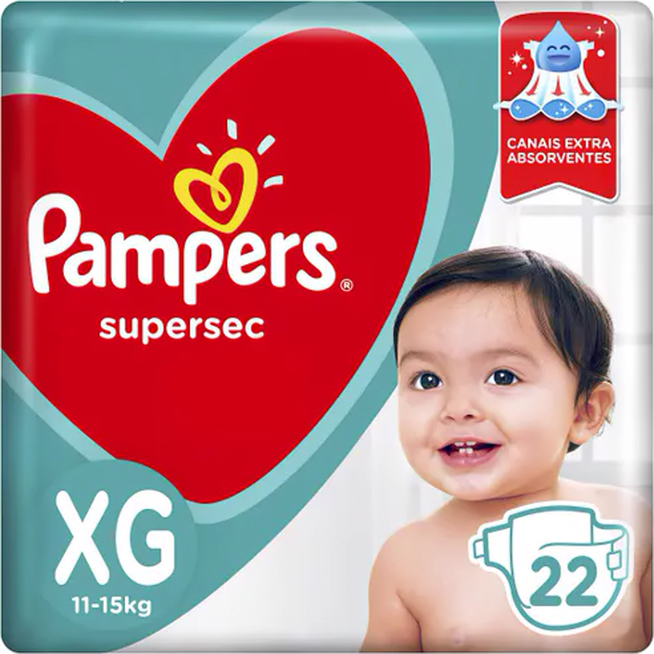 Fralda Pampers Supersec Xg 22 Un