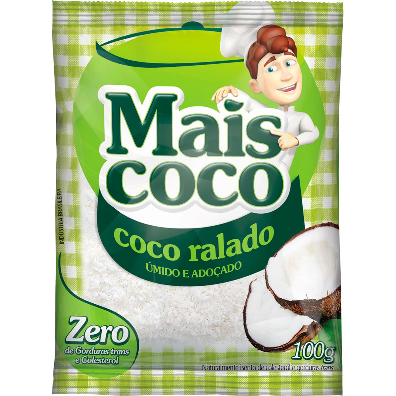 Coco Ralado Mais Coco Umido E Adocado 100G