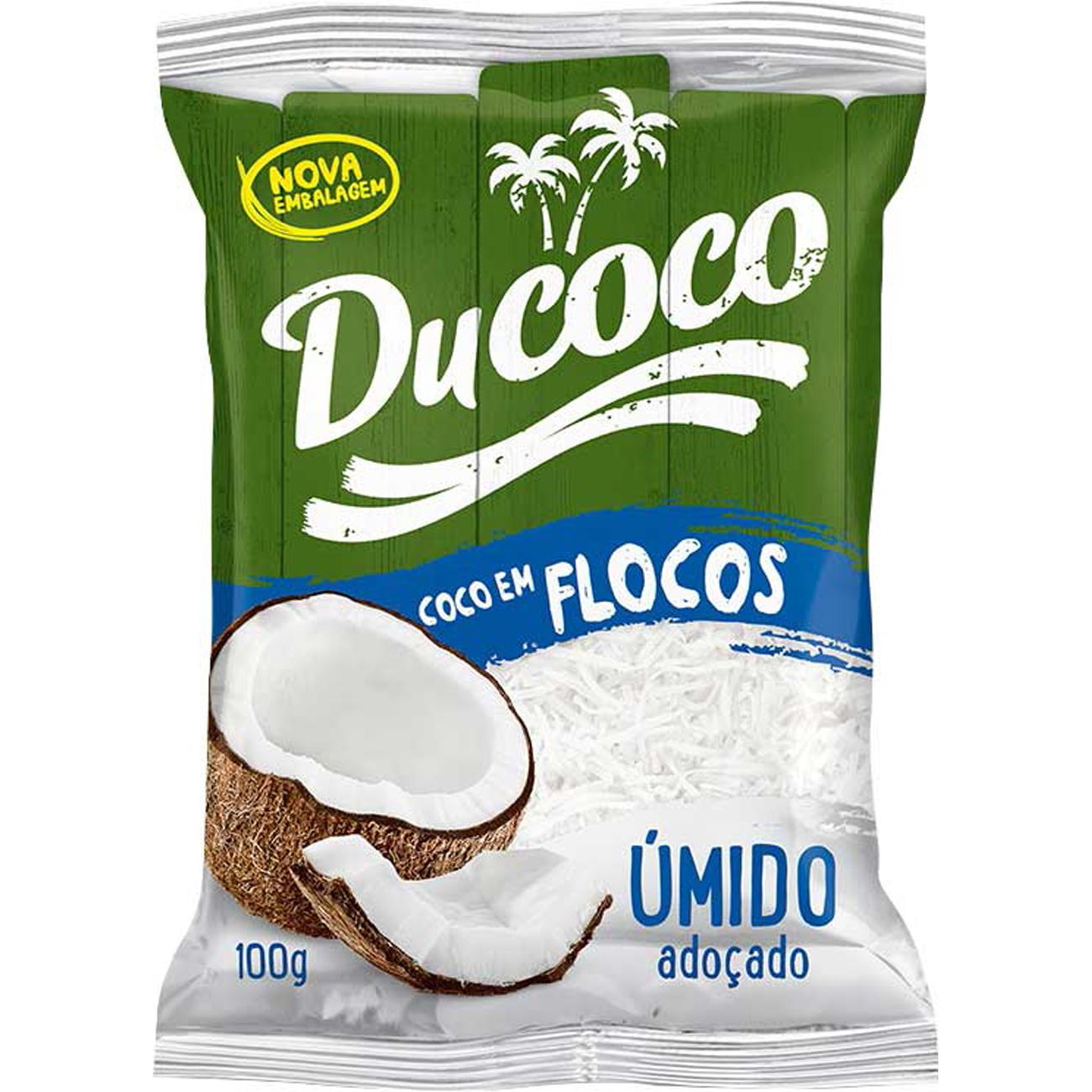 Coco Ralado em Flocos Ducoco Umido E Adocado 100G