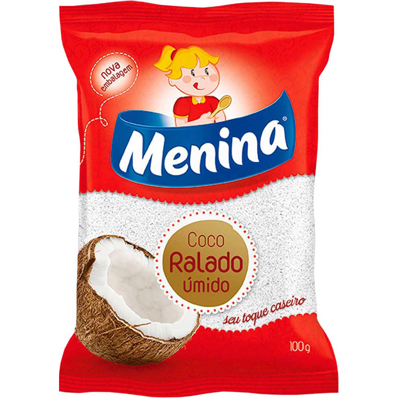Coco Ralado Menina Umido E Adocado 100G