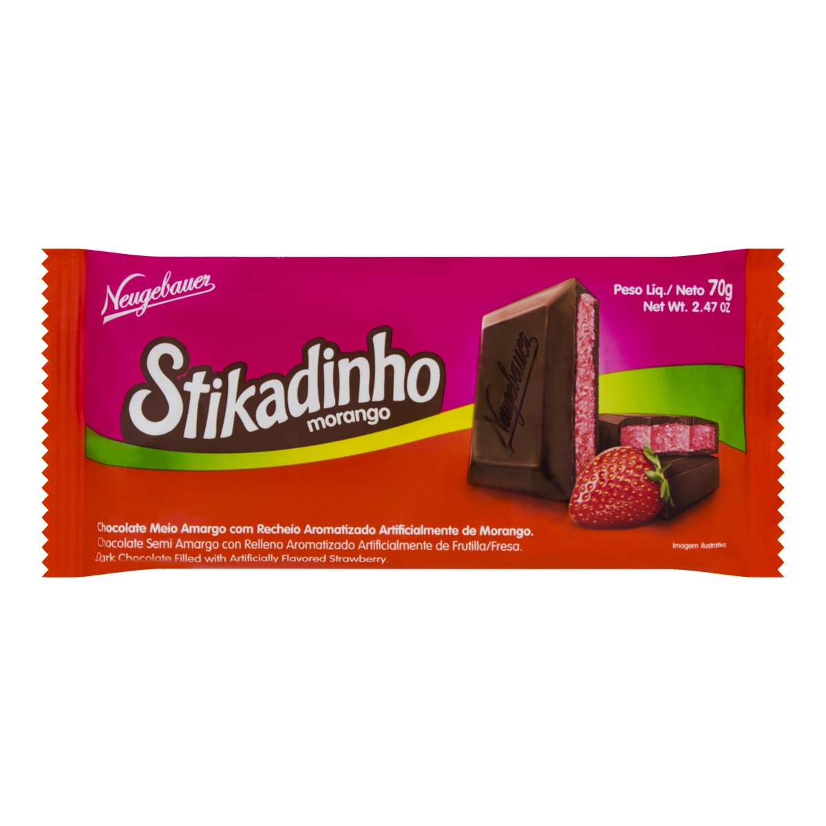 Chocolate Stikadinho 70g