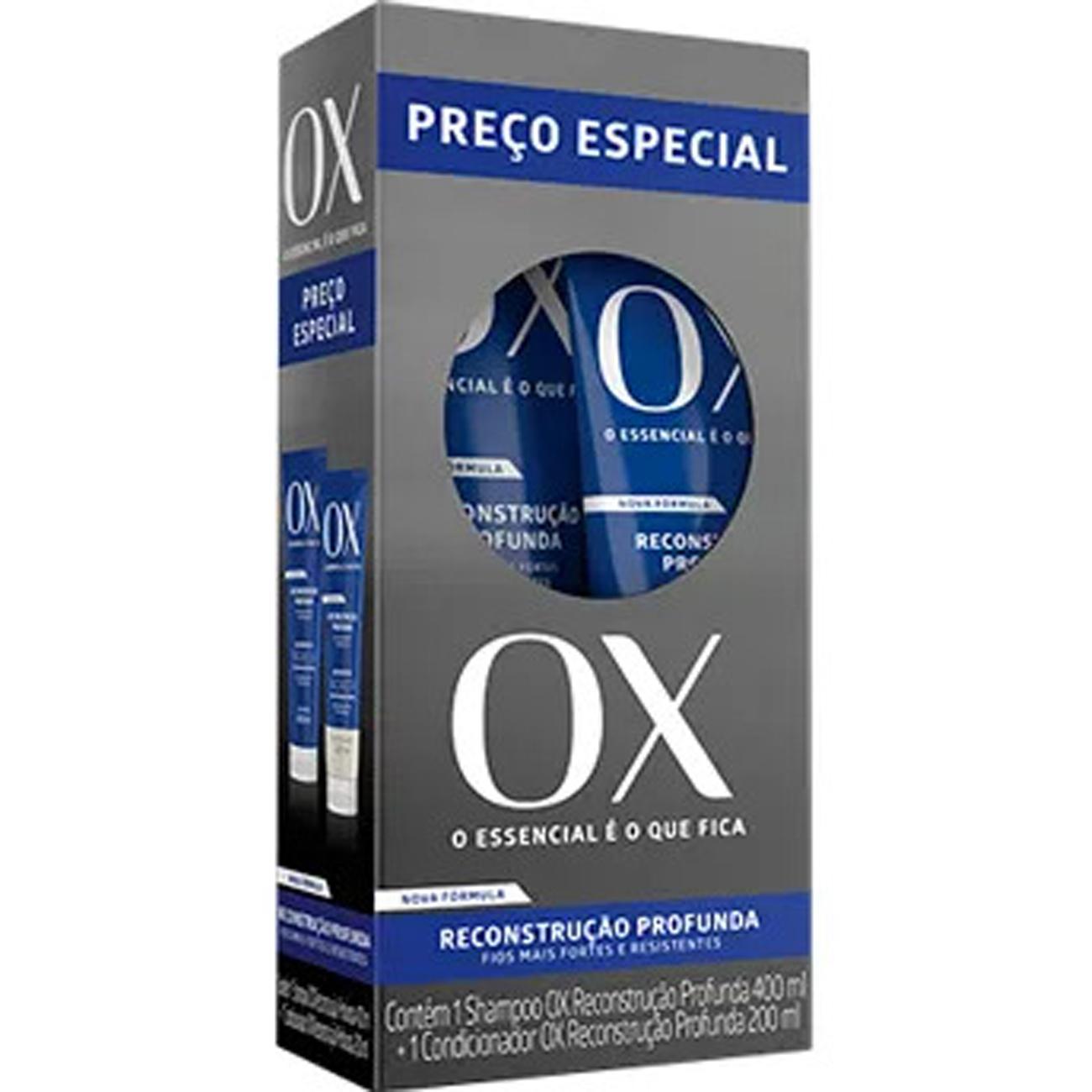 Kit Shampoo Ox_Reconstrucao 400Ml + Condicionador 200Ml