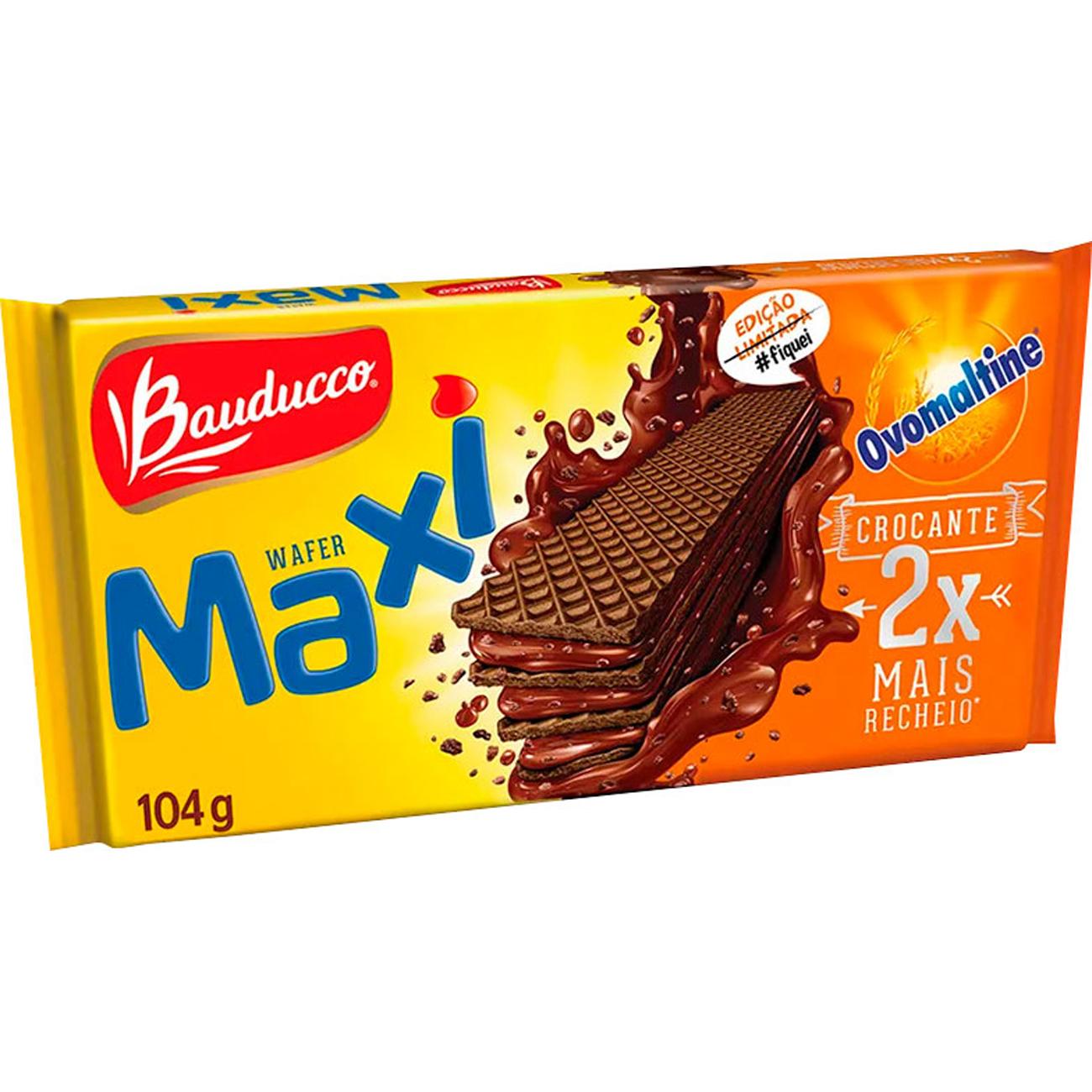 Biscoito Bauducco 104G Wafer Ovomaltine
