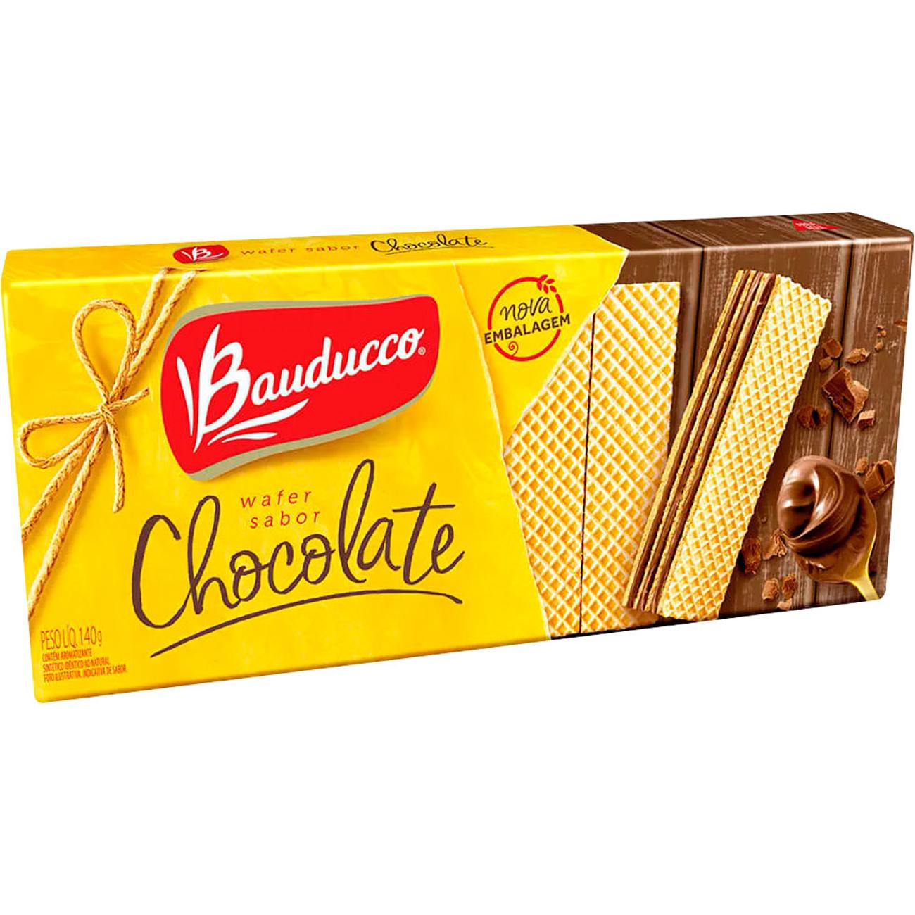 Biscoito Bauducco 140G Wafer Chocolate