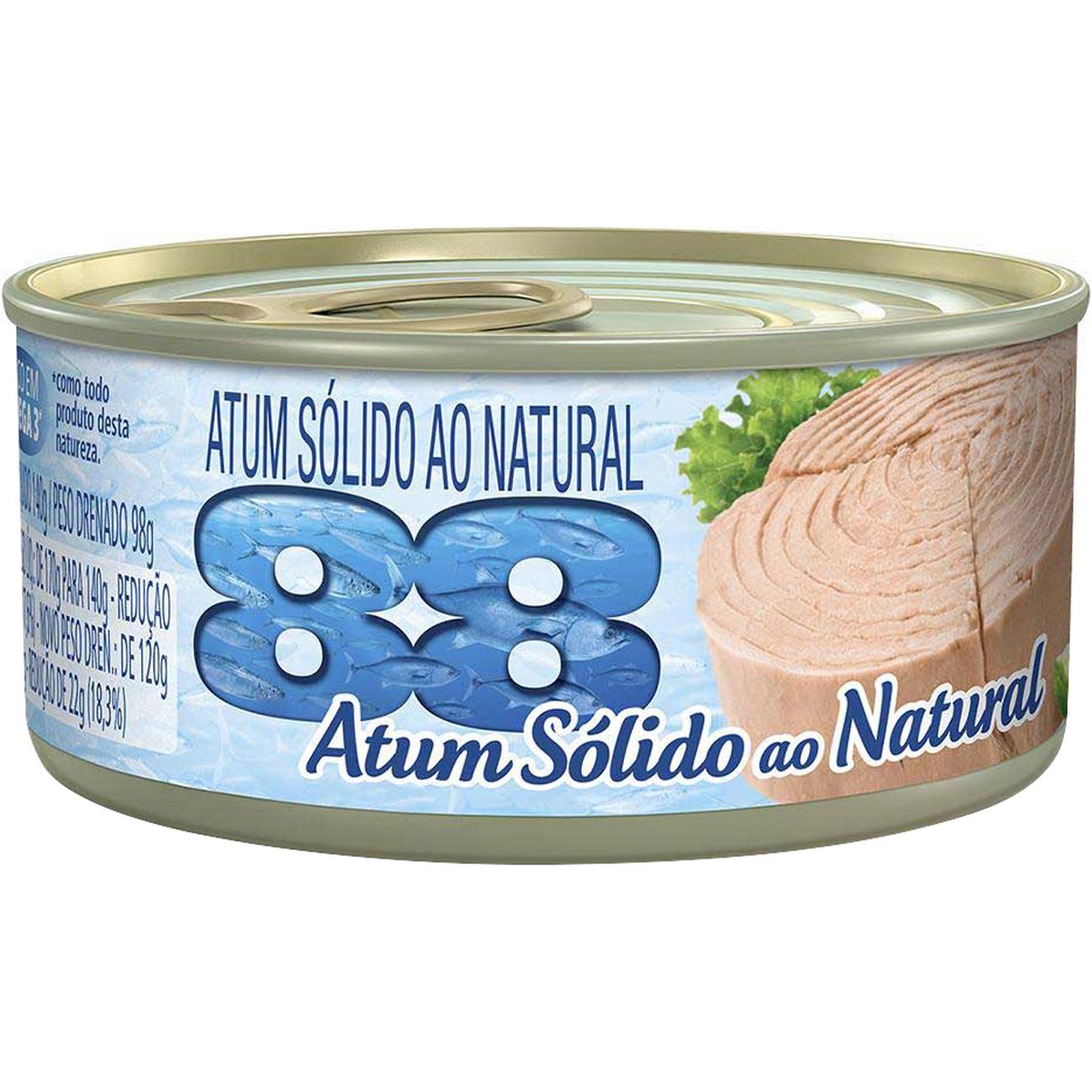 Atum 88 Solido Natural 140G