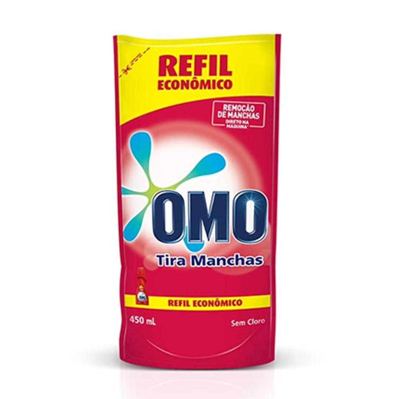 Tira Manchas Liquido Omo 450Ml Roupas Coloridas Sache