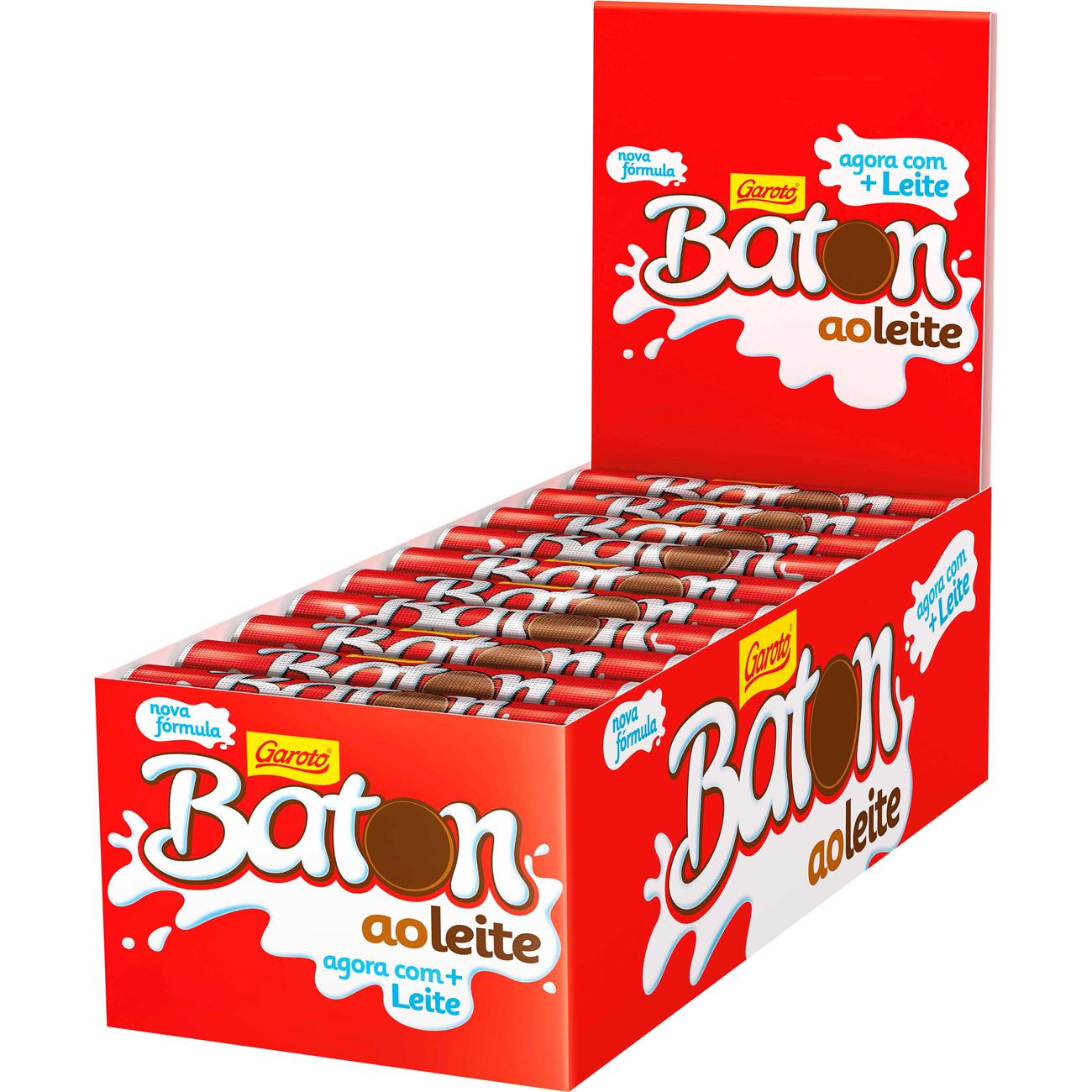 CHOC.GAROTO 16G BATON AO LEITE