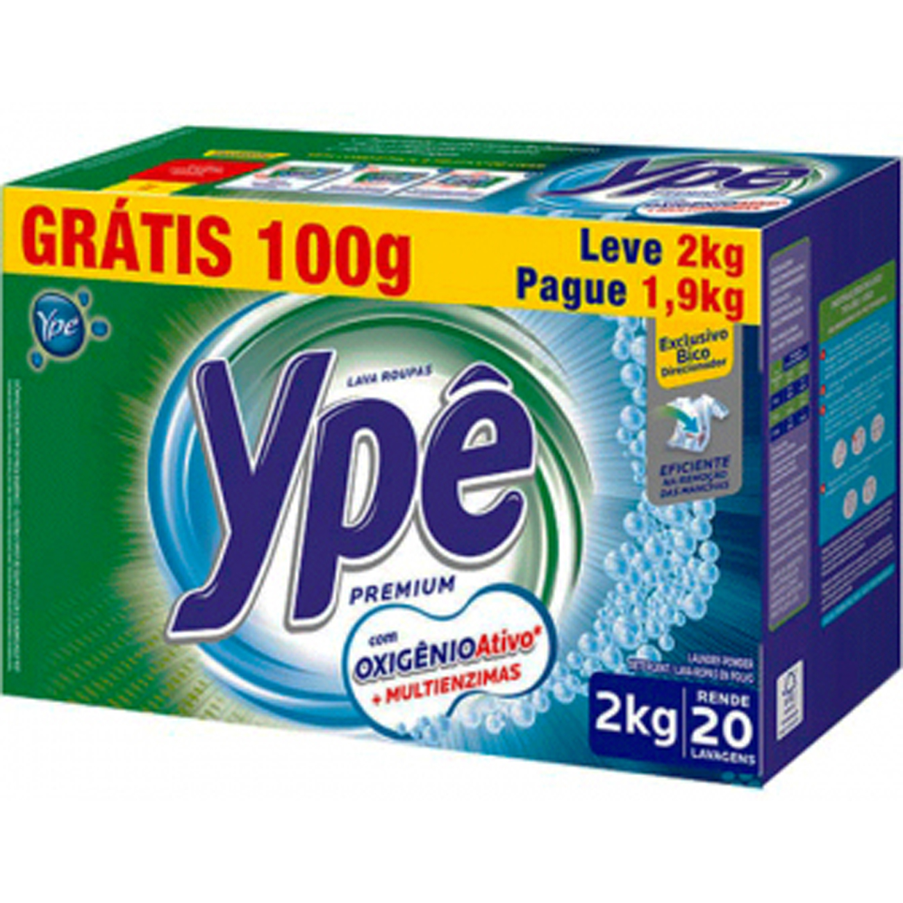 Detergente em Po Ype Premium 2Kg Gratis 100G