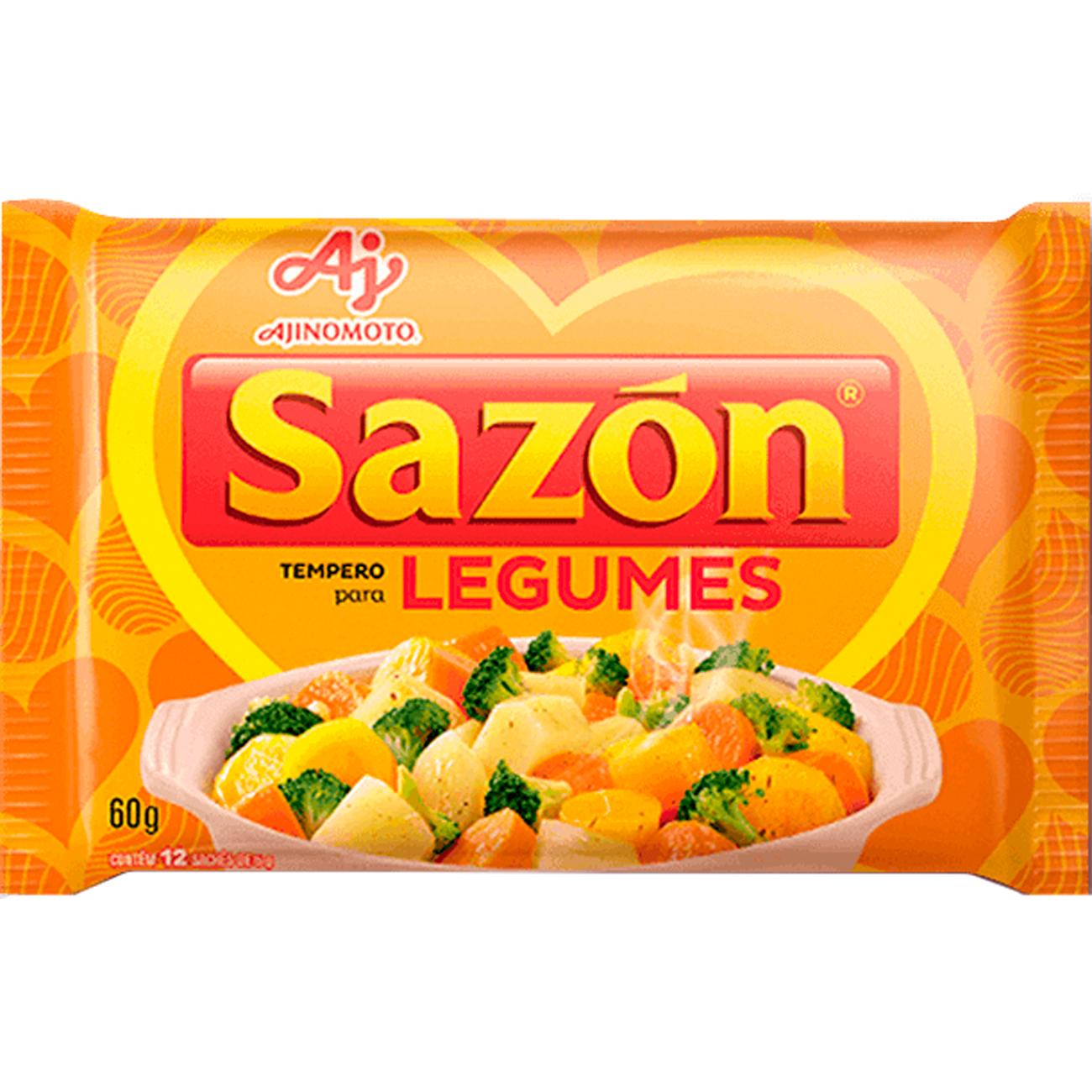 Tempero Sazon 60G Amarelo Legumes