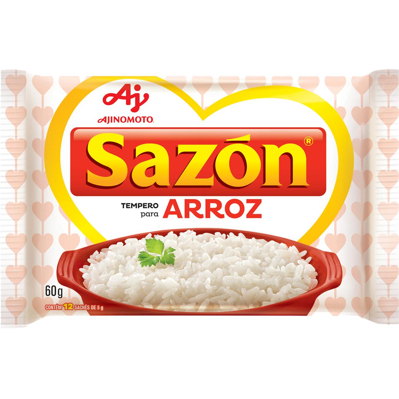 Tempero Sazon 60G Branco Arroz