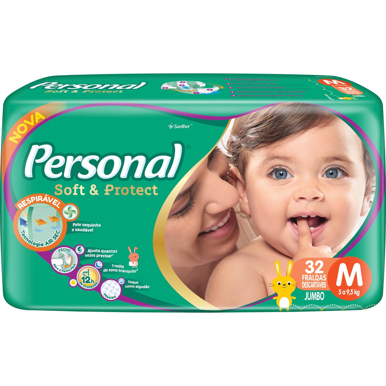 Fralda Personal Baby Jumbo M 32Un