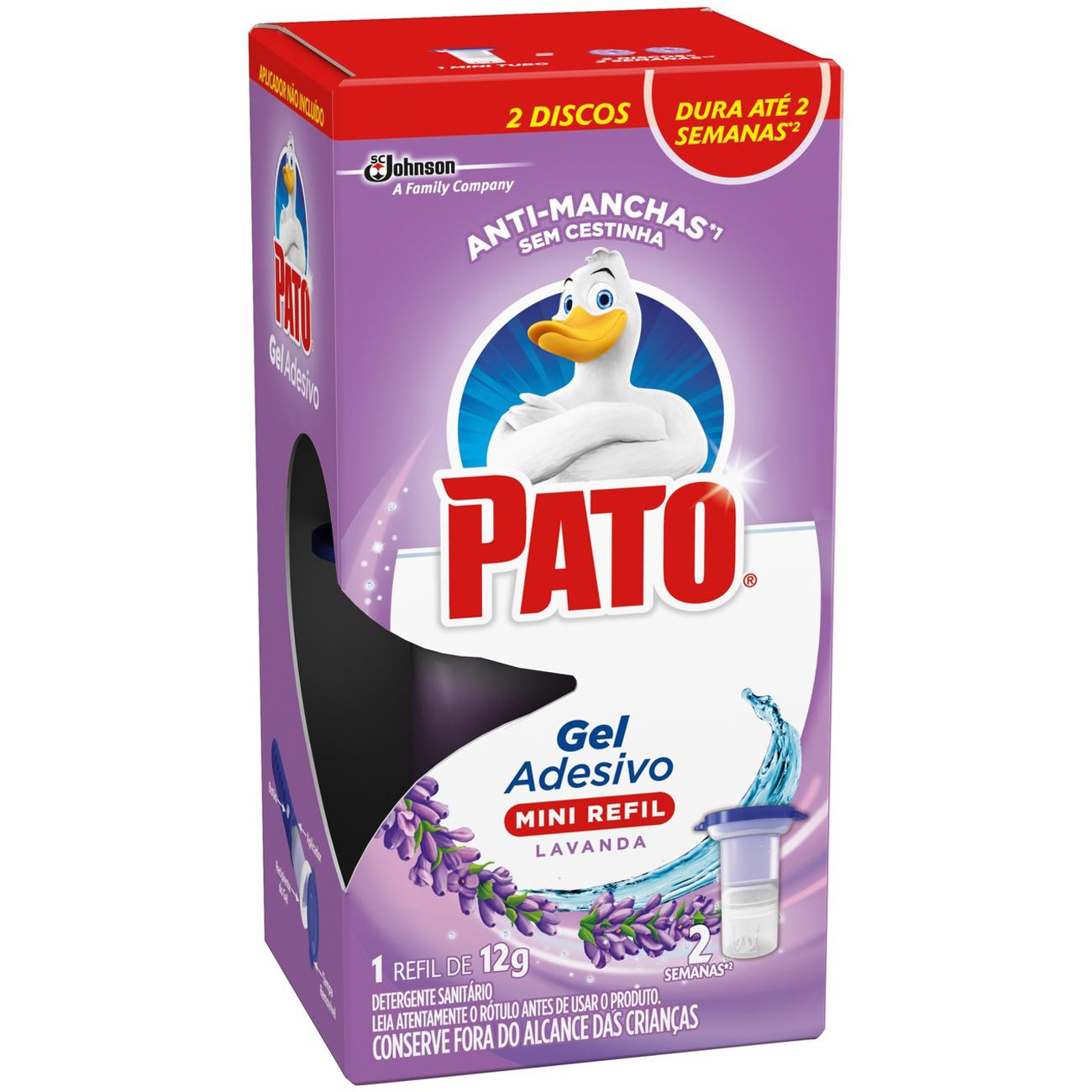 Desodorizador Pato Refil 2 Discos Adesivo Lavanda