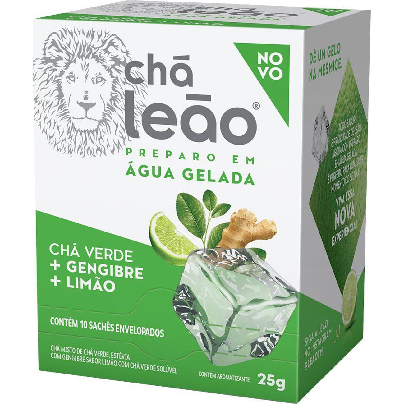 Cha Leao Cold Brew Gelado 10Un Vde/Geng+Limao