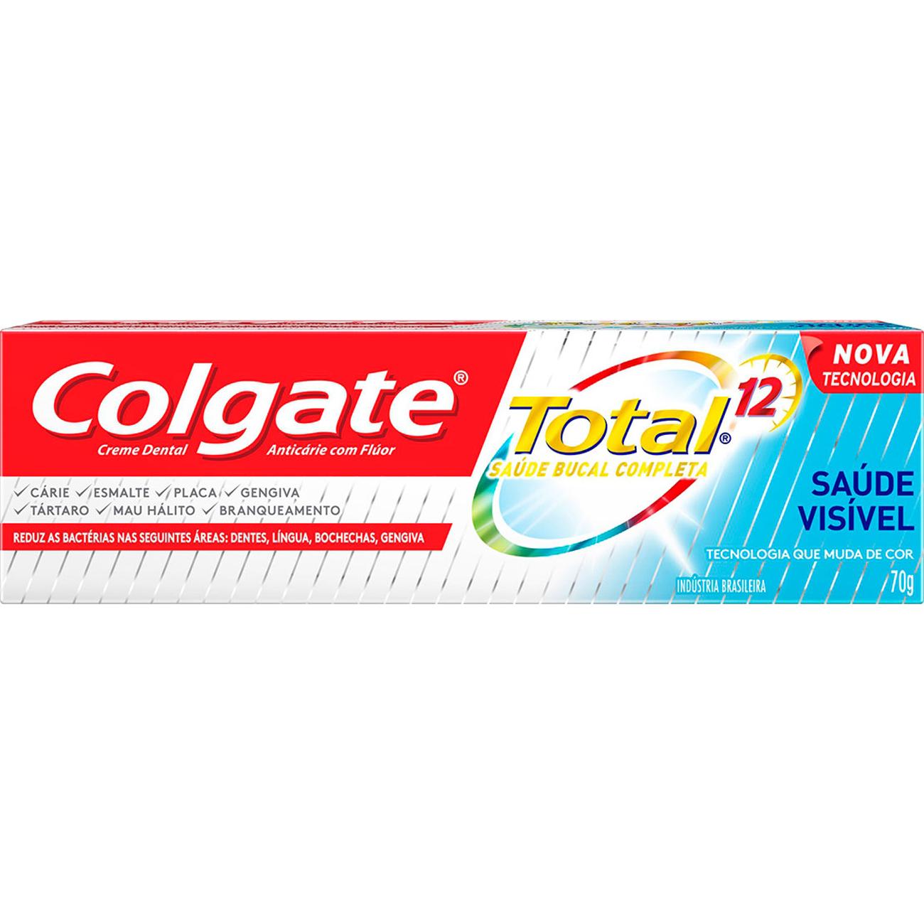 Creme Dental Colgate Tot12 Prof70G Saude Visivel
