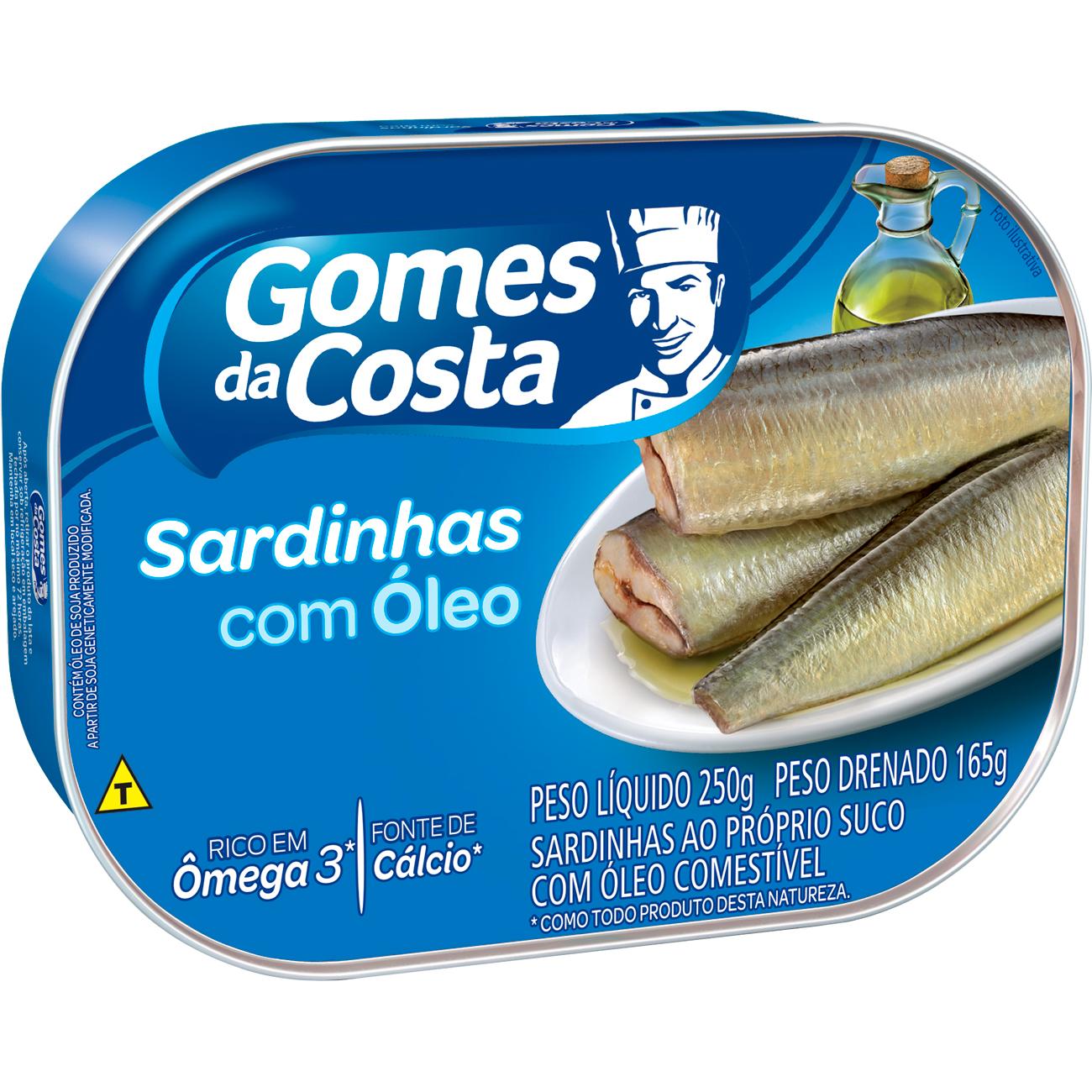 Sardinha Gomes Da Costa 250G Oleo