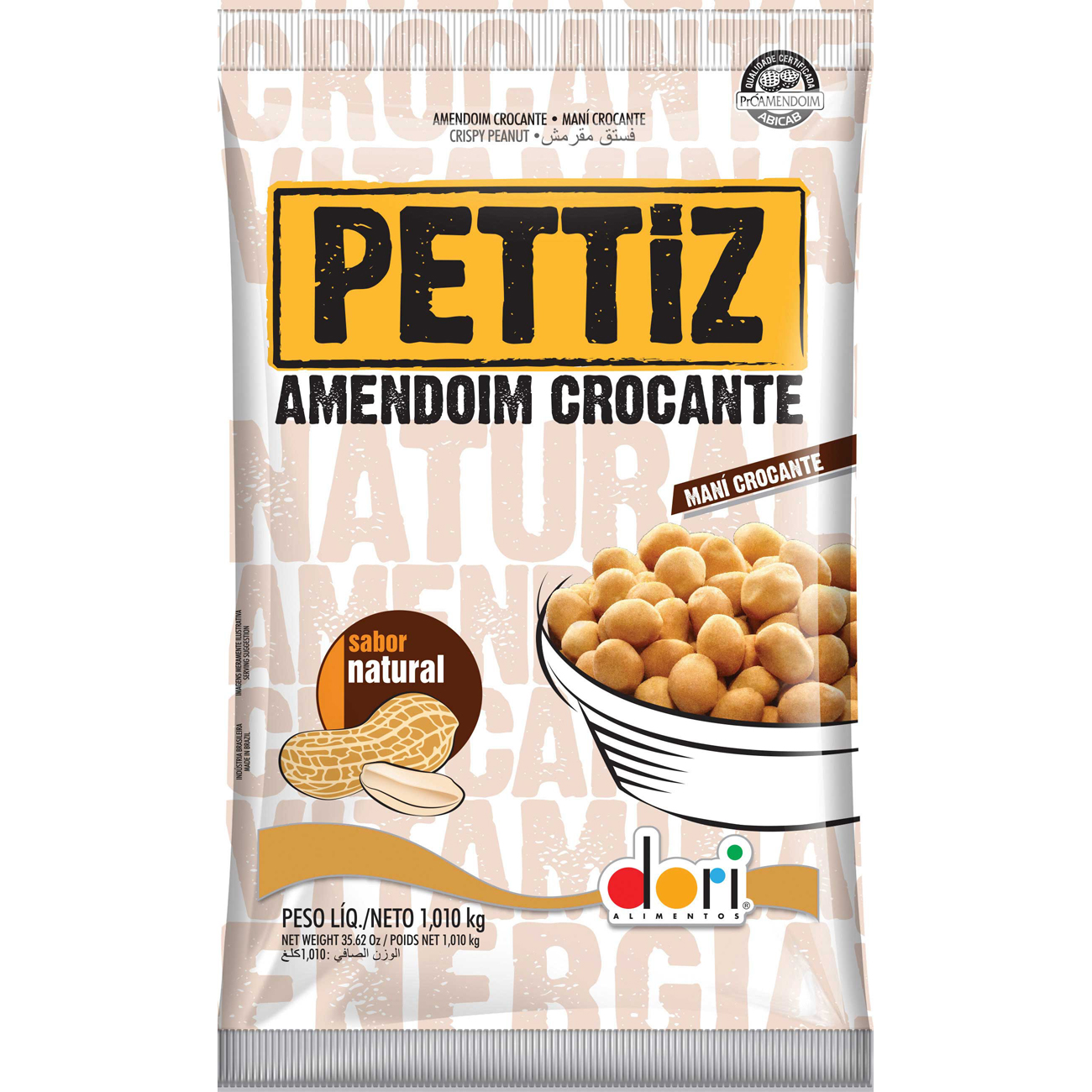 Amendoim Dori Pettiz Natural 1,010Kg