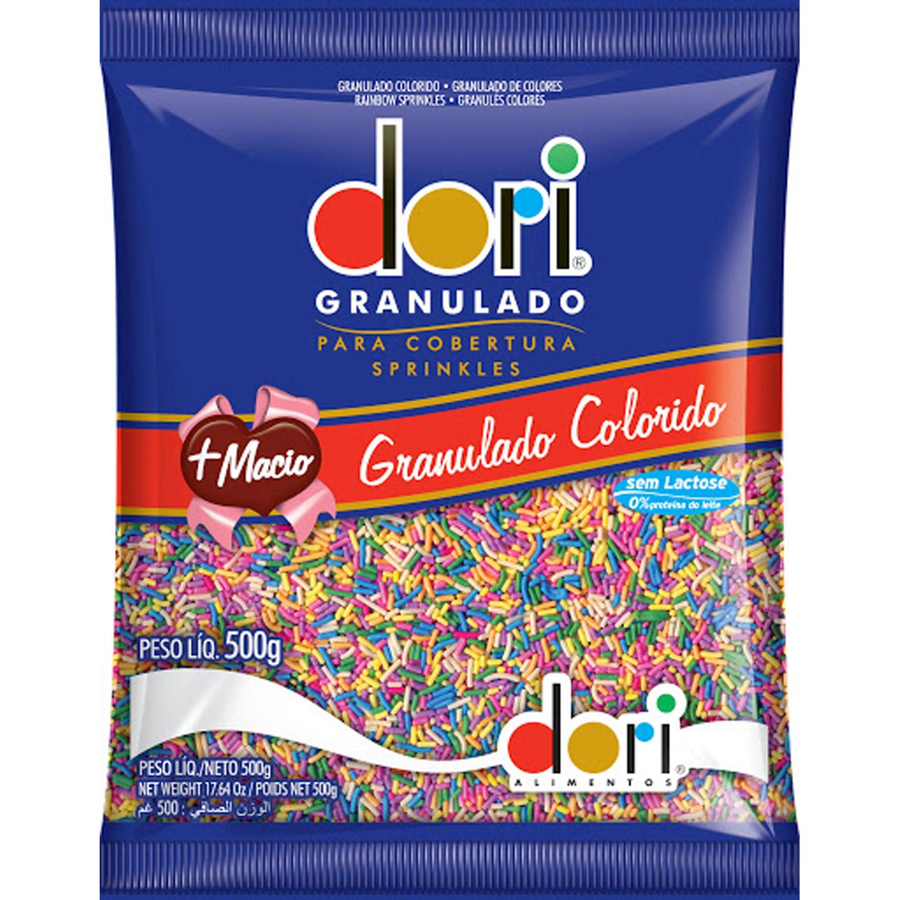 Chocolate Dori 500G Granulado Colorido