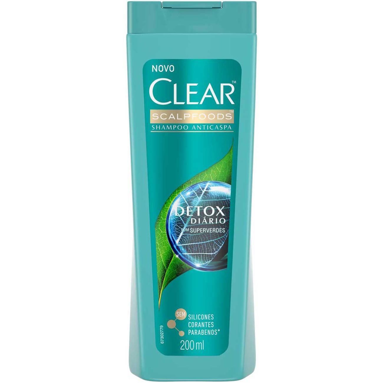 Shampoo Clear 200Ml Detox Diario