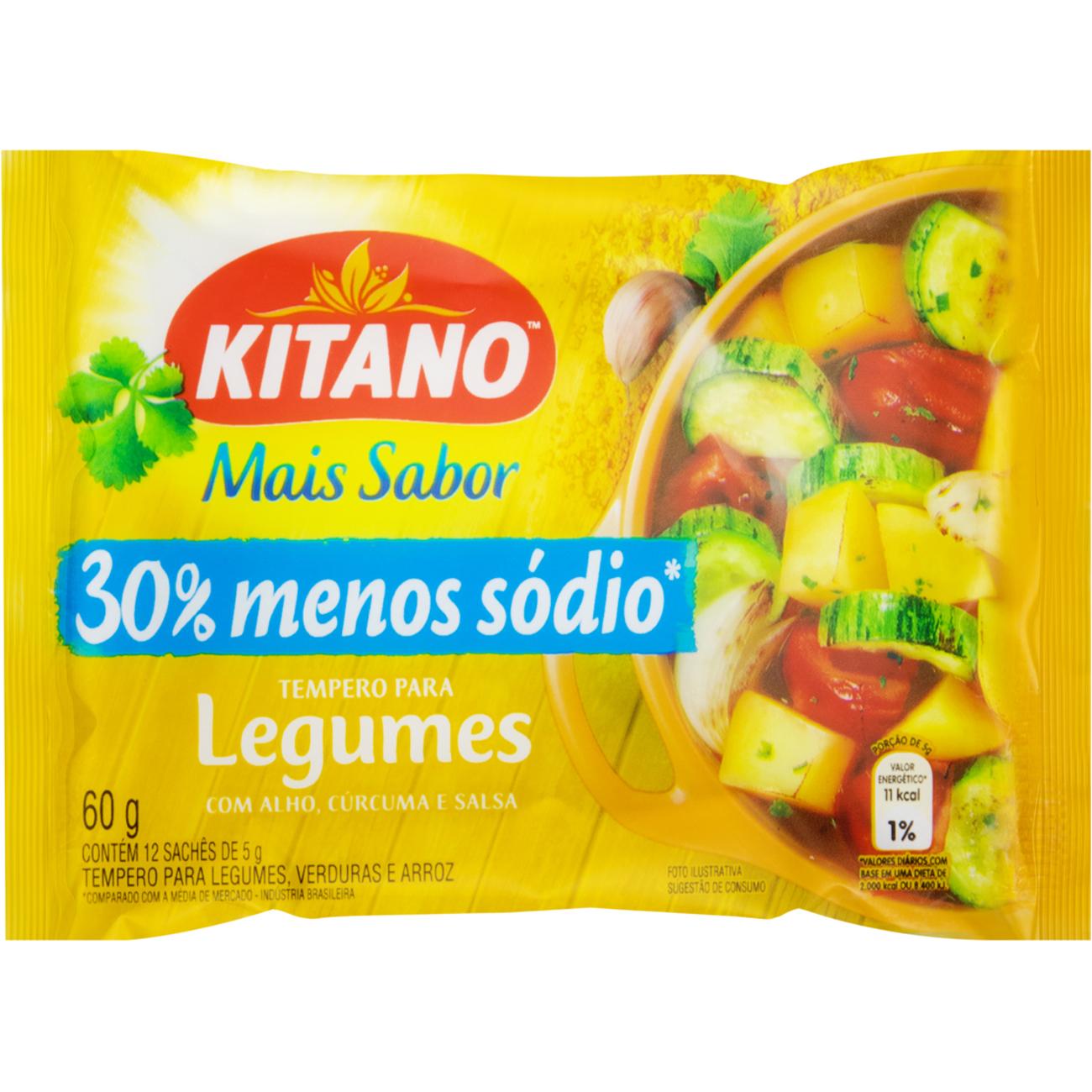 Tempero Kitano Mais Sabor 60G Legumes Amarelo
