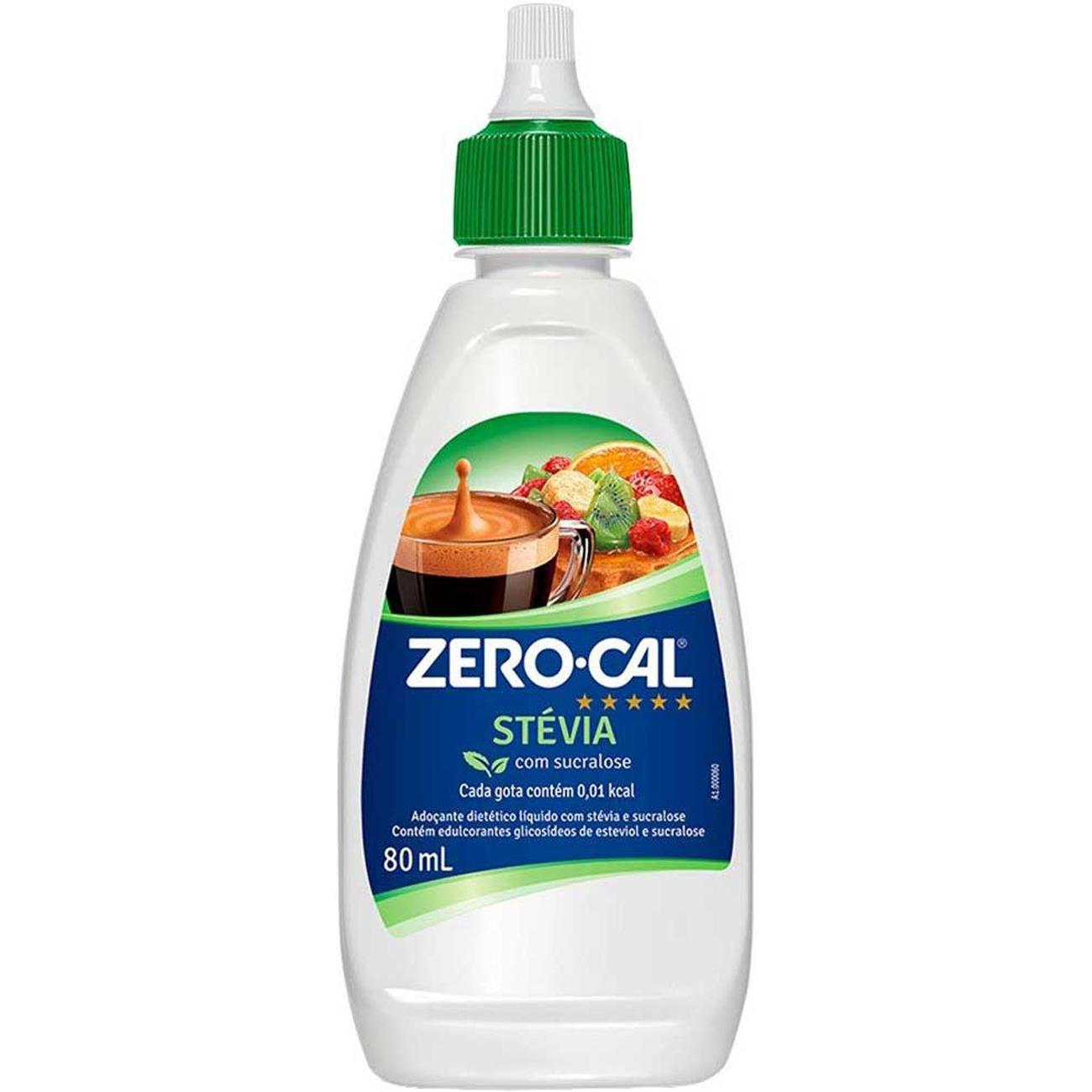 Adocante Zero-Cal Stevia 80Ml