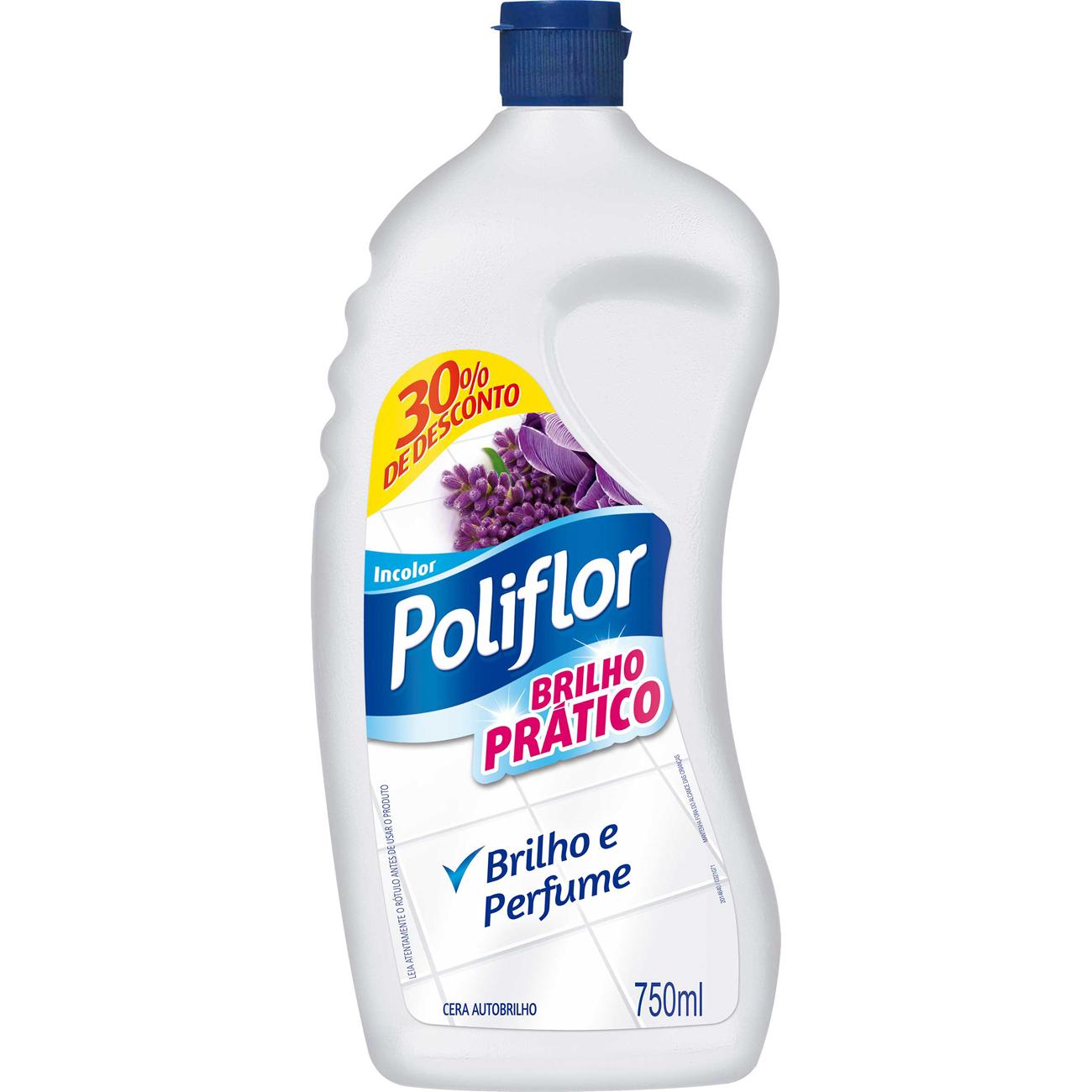 Cera Poliflor 750Ml Pratico Incolor Gts 30%