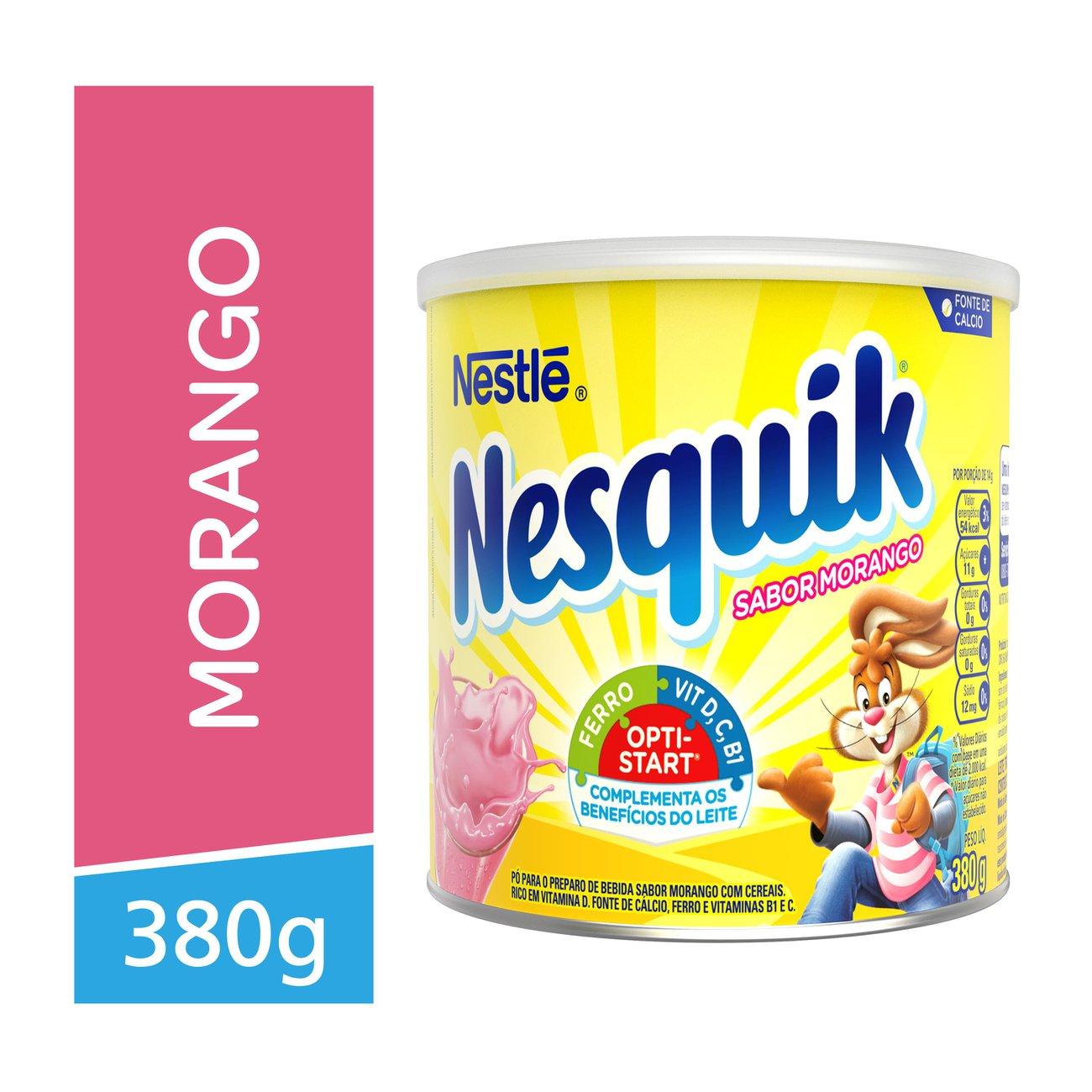 Achocolatado em Po Nesquick Morango 380g