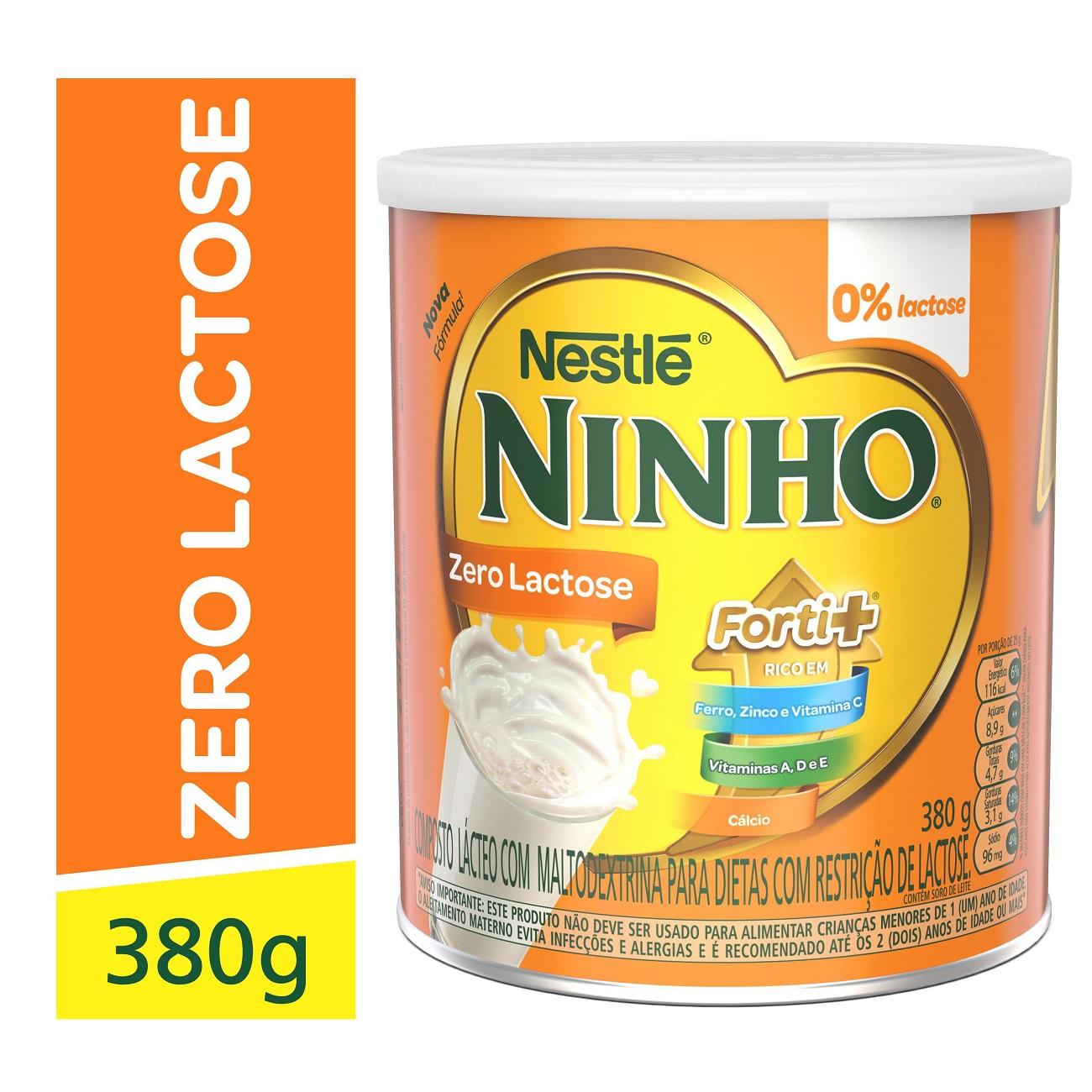 Leite em Po Ninho 380G Zero Lactose