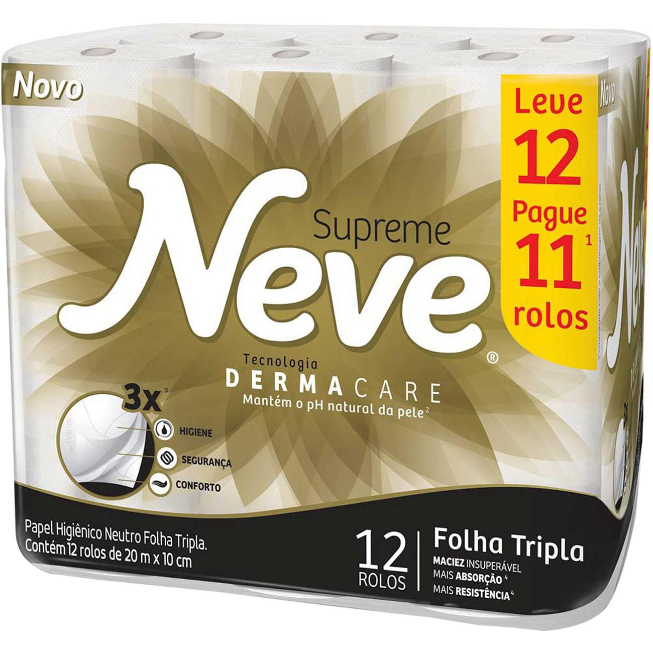 Papel Higienico Neve 20M L12 P11 Ftsupreme