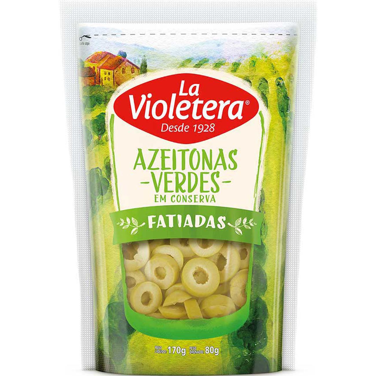 Azeitona La Violetera 80G Verde Fat Sc