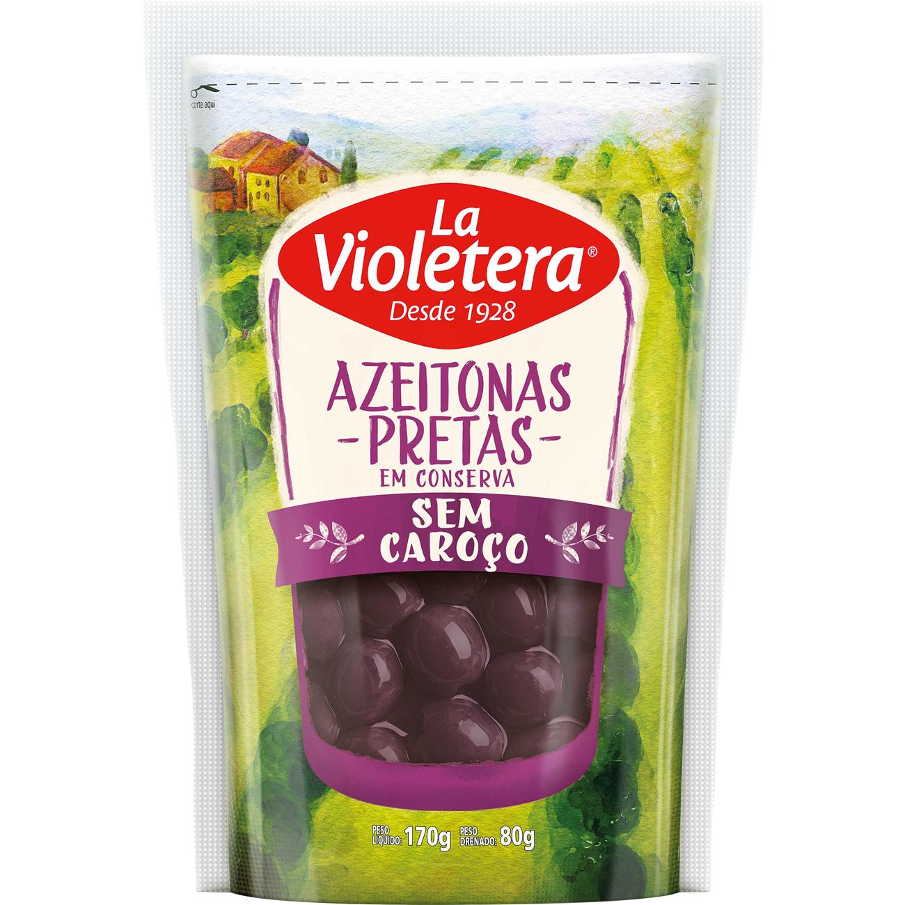 Azeitona La Violetera 80Gpreta S/C Sc