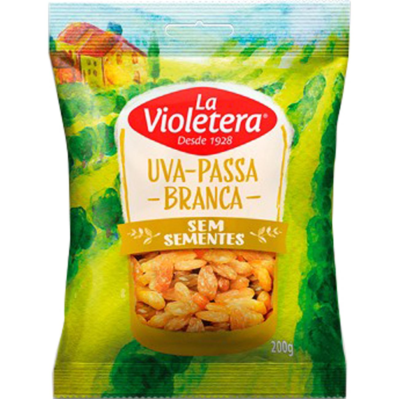 Fruta Natural Uva Passala Violetera 200G Bca S/S