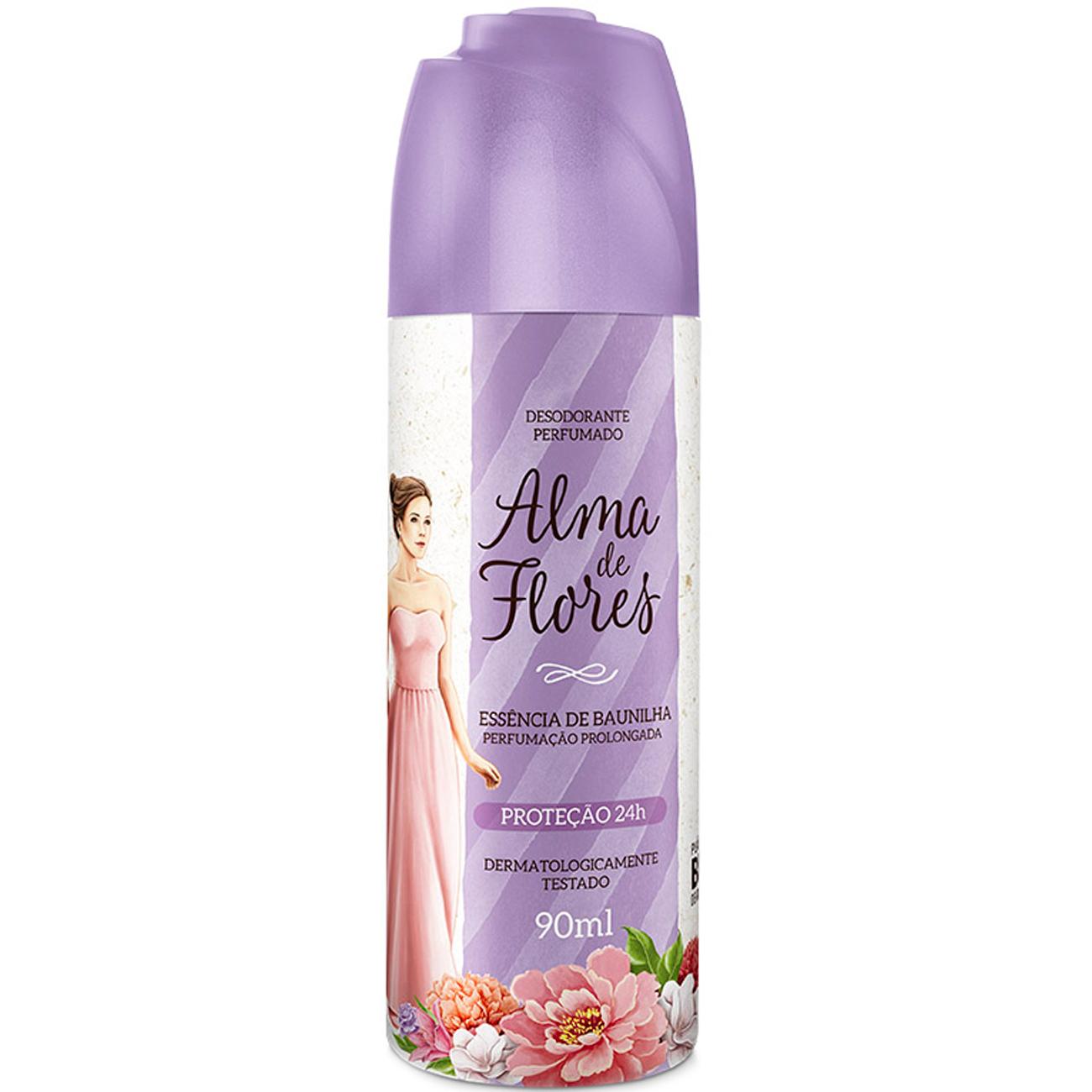 Desodorante Alma de Flores Spray 90Ml Baunilha