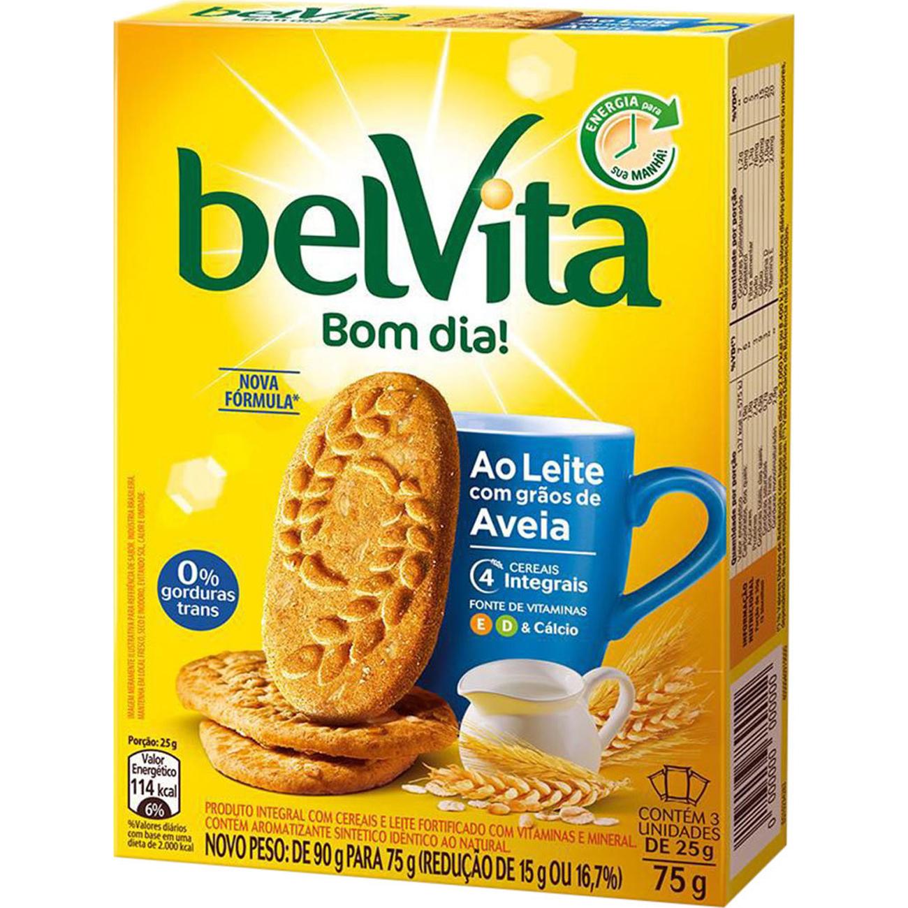 Biscoito Belvita 75G Leite Aveia