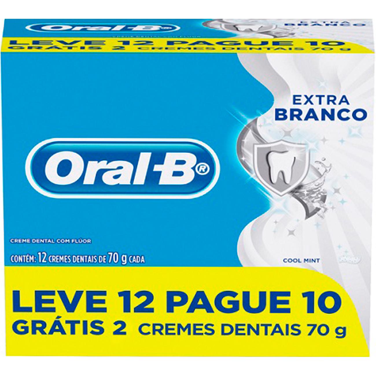 Creme Dental Oral-B 70G Lv12 Pg10 Extra Branco