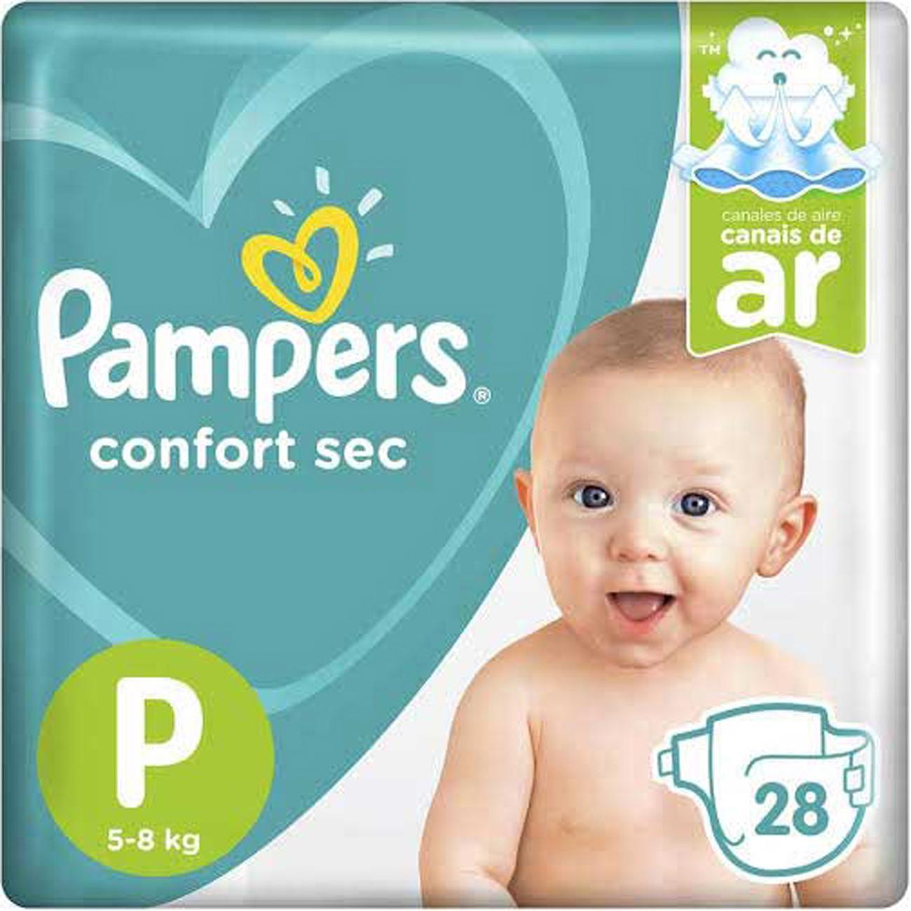 Fralda Pampers Confortsec P 28Un