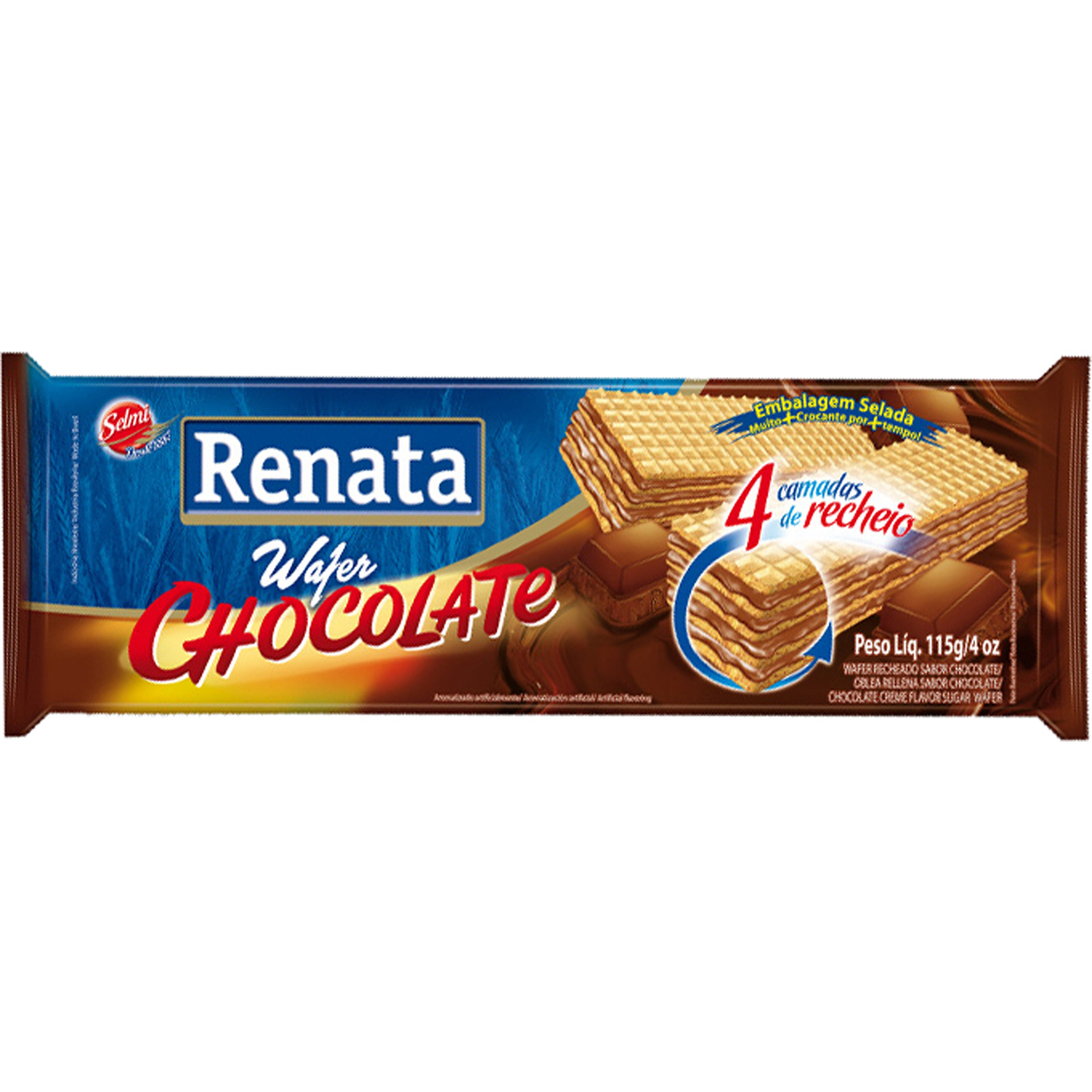 Biscoito Renata 115G Wafer Chocolate