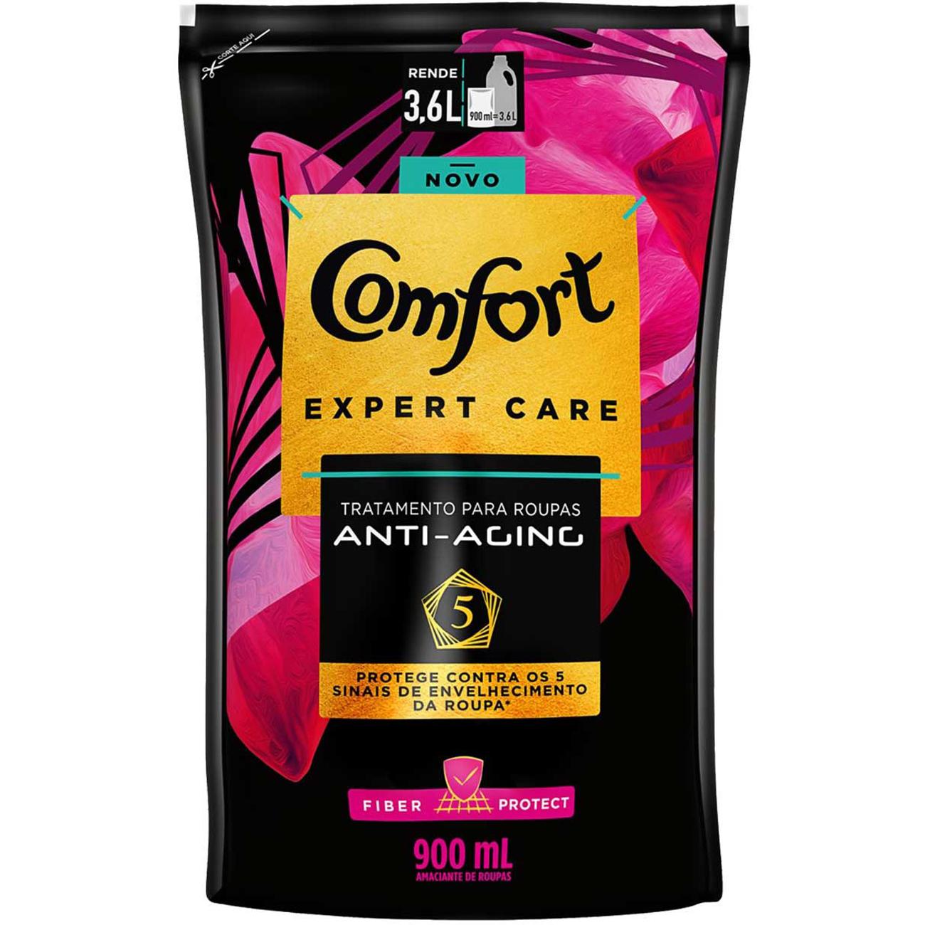 Amaciante Concentrado Comfort Expert Care Fiber Protect Doypack 900Ml