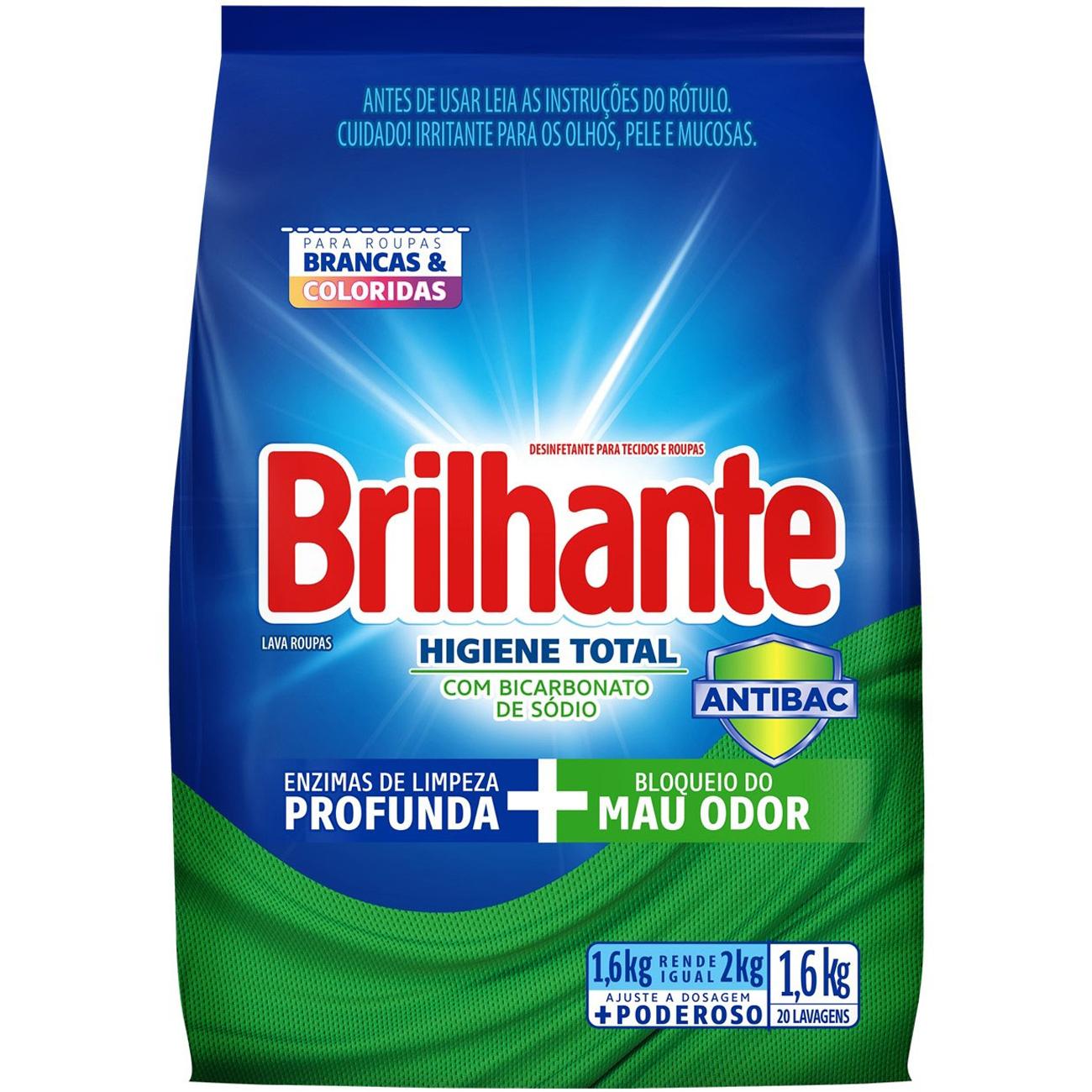 DT.PO BRILHANTE DS 1.6KG SC HIGIENE TOTAL