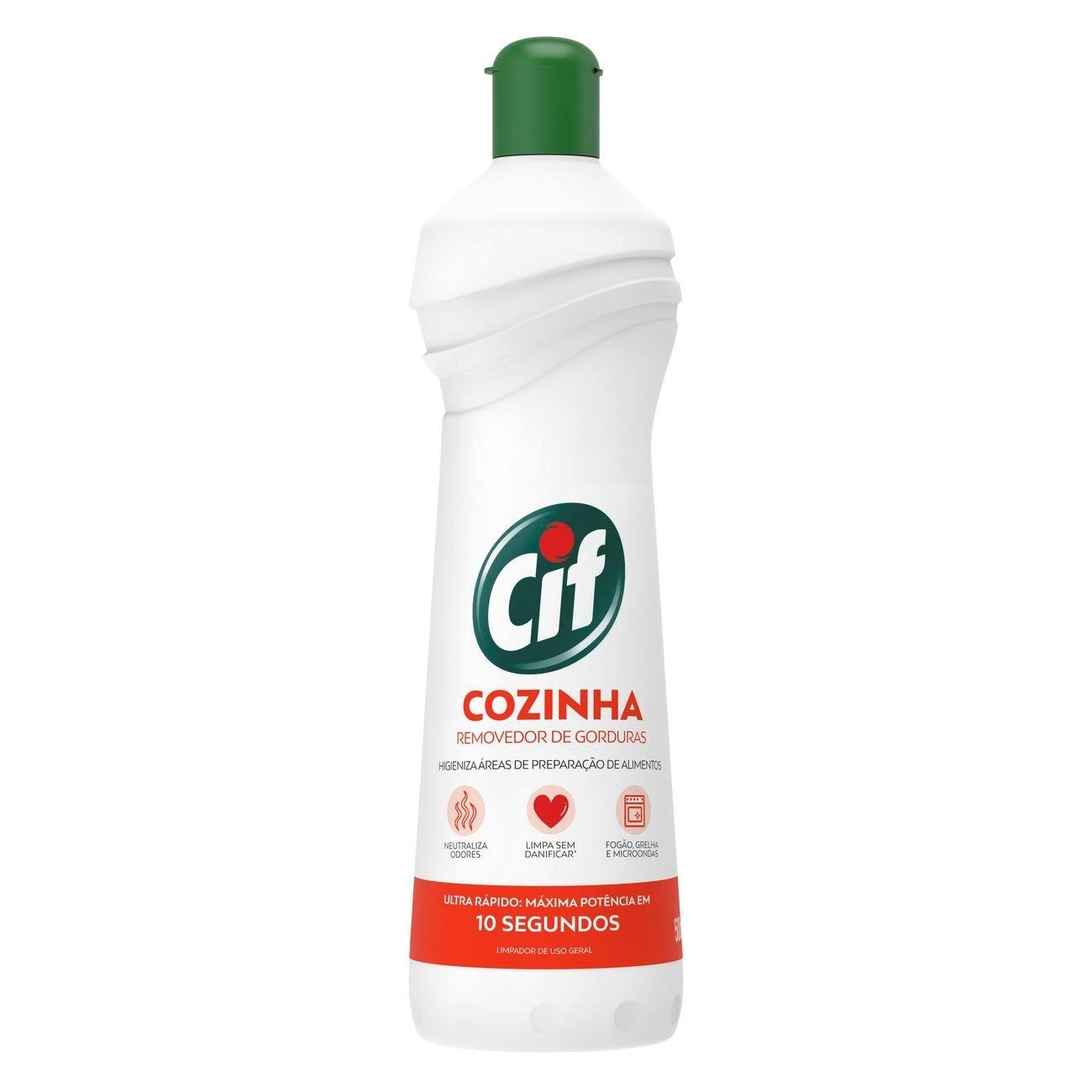 Desengordurante Cif Cozinha Removedor de Gorduras Spray 500Ml