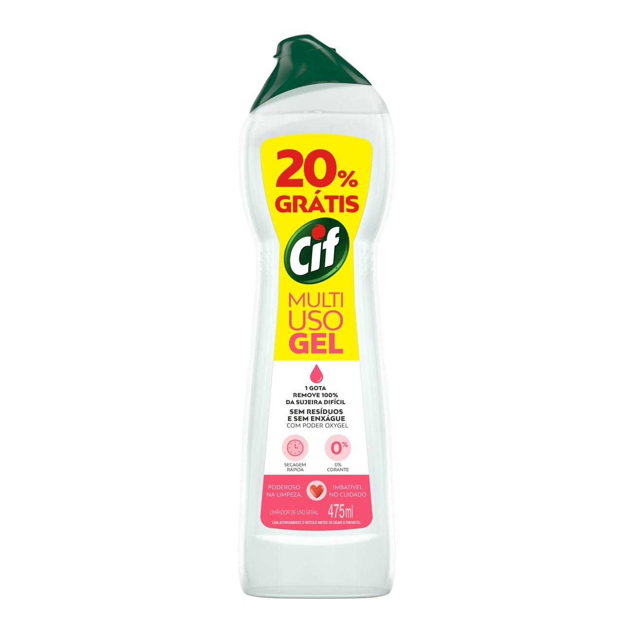 Limpador Cif 475Ml Multiuso Spray 20% Gts