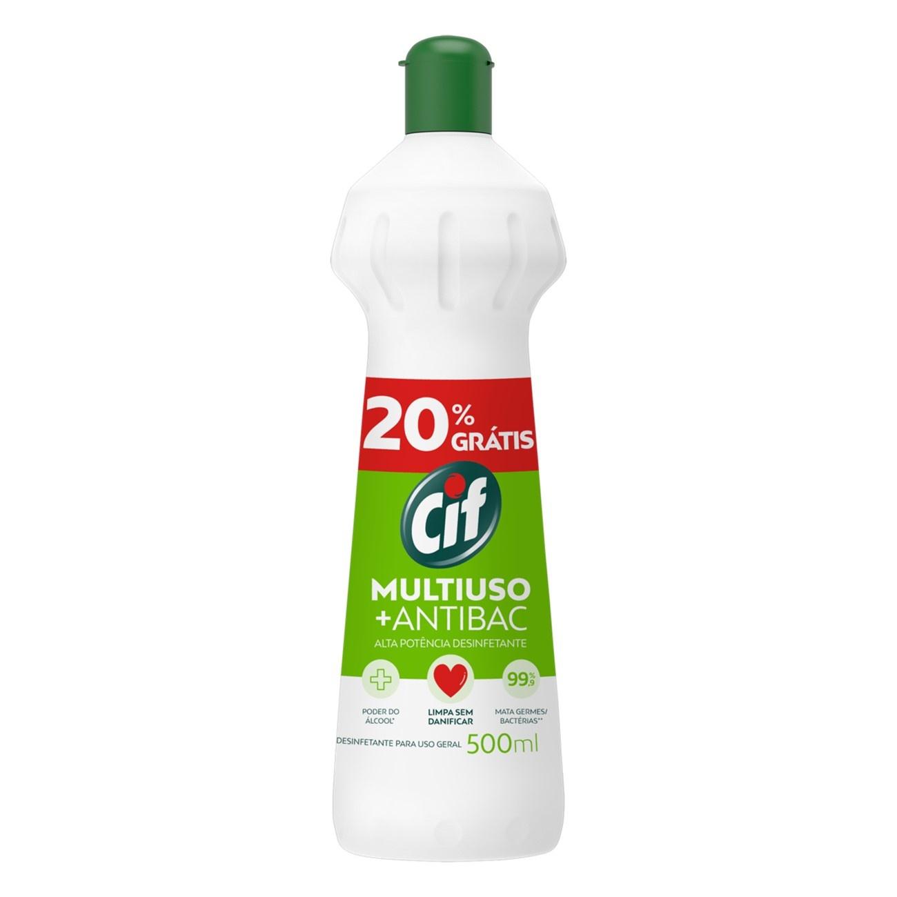 Limpador Cif 500Ml Multiuso Antibac Spray 20%