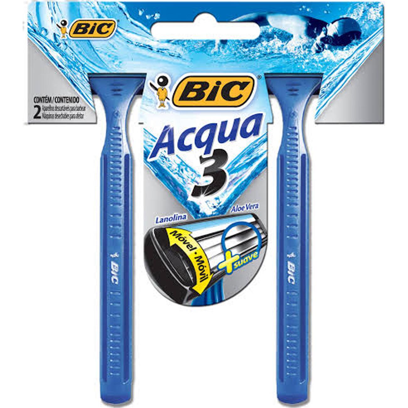 Aparelho de Barbear Bic Aqua 3 2Un