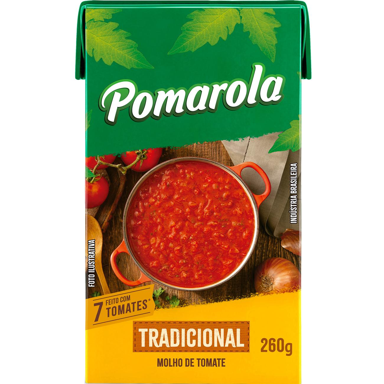 Molho de Tomate Pomarola Tradicional Tetra Pak 260G