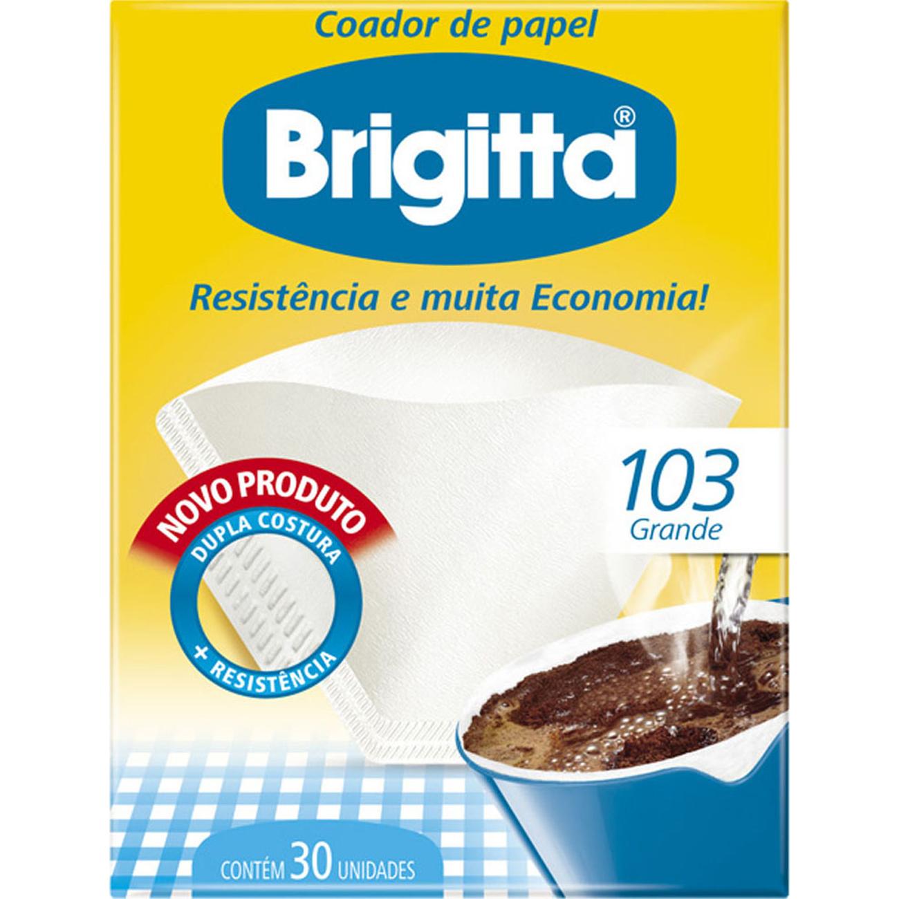 Filtro de Papel Brigitta 103 | Com 30 Unidades