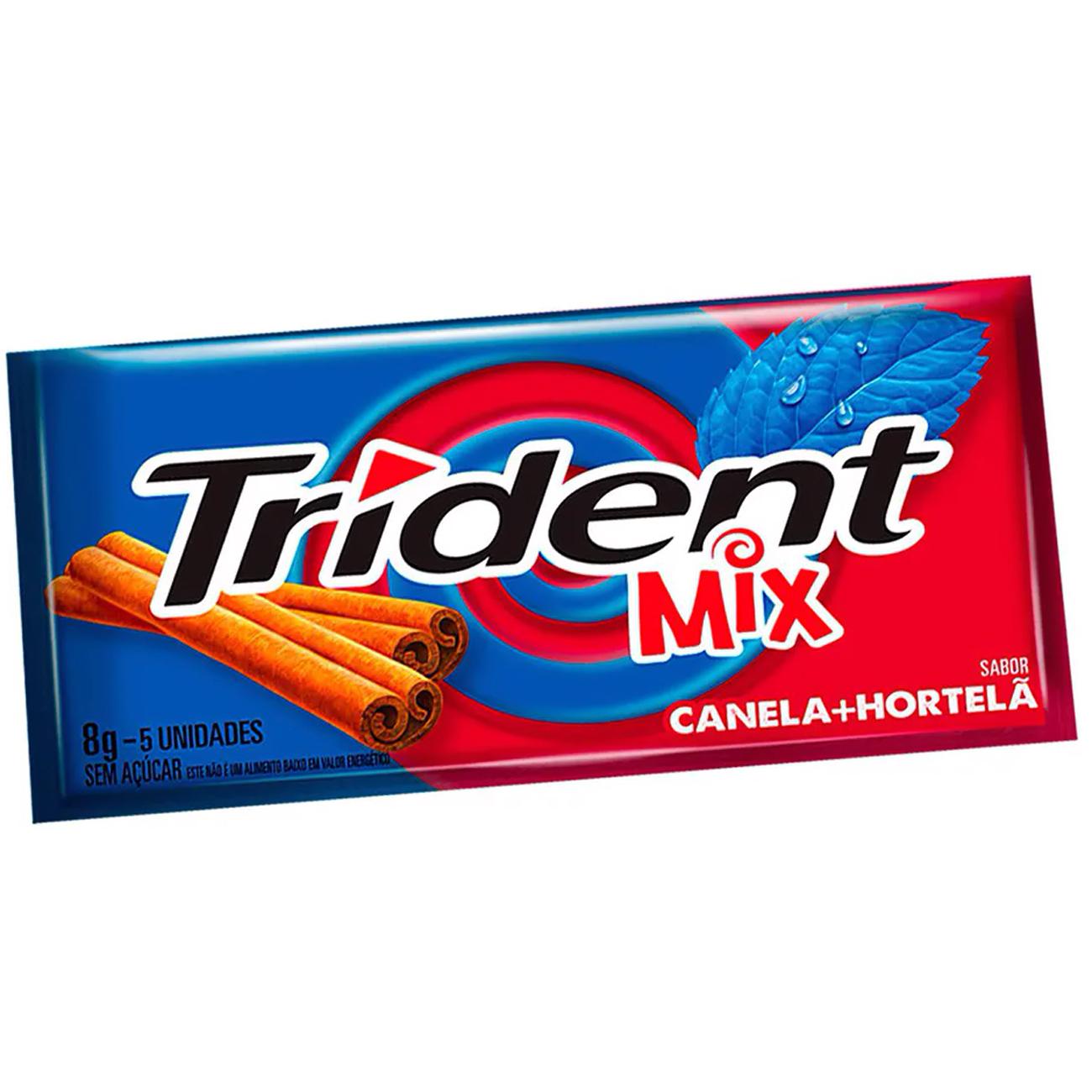 Chiclete Trident Canela E Hortela 8G