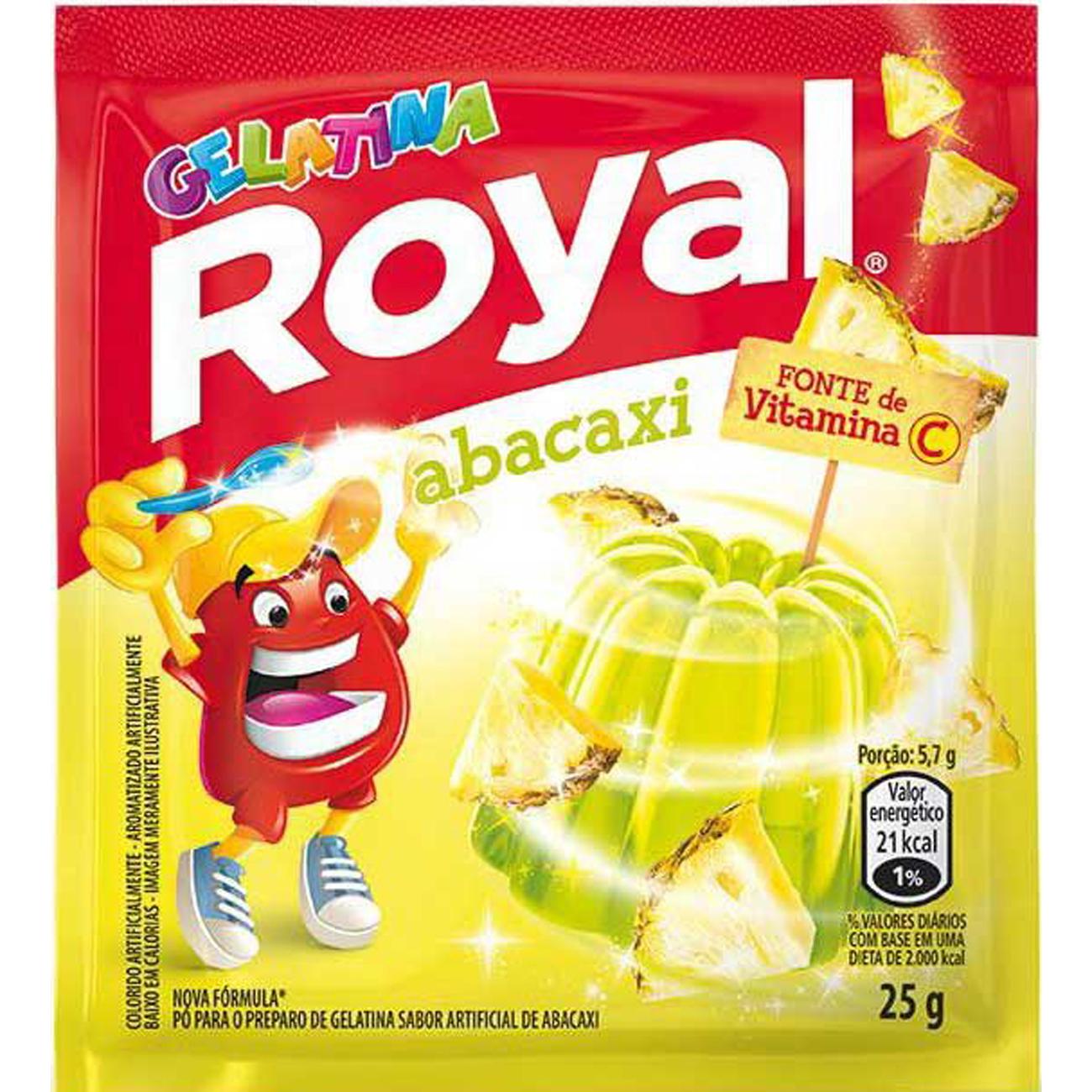 Gelatina Royal Abacaxi 25G