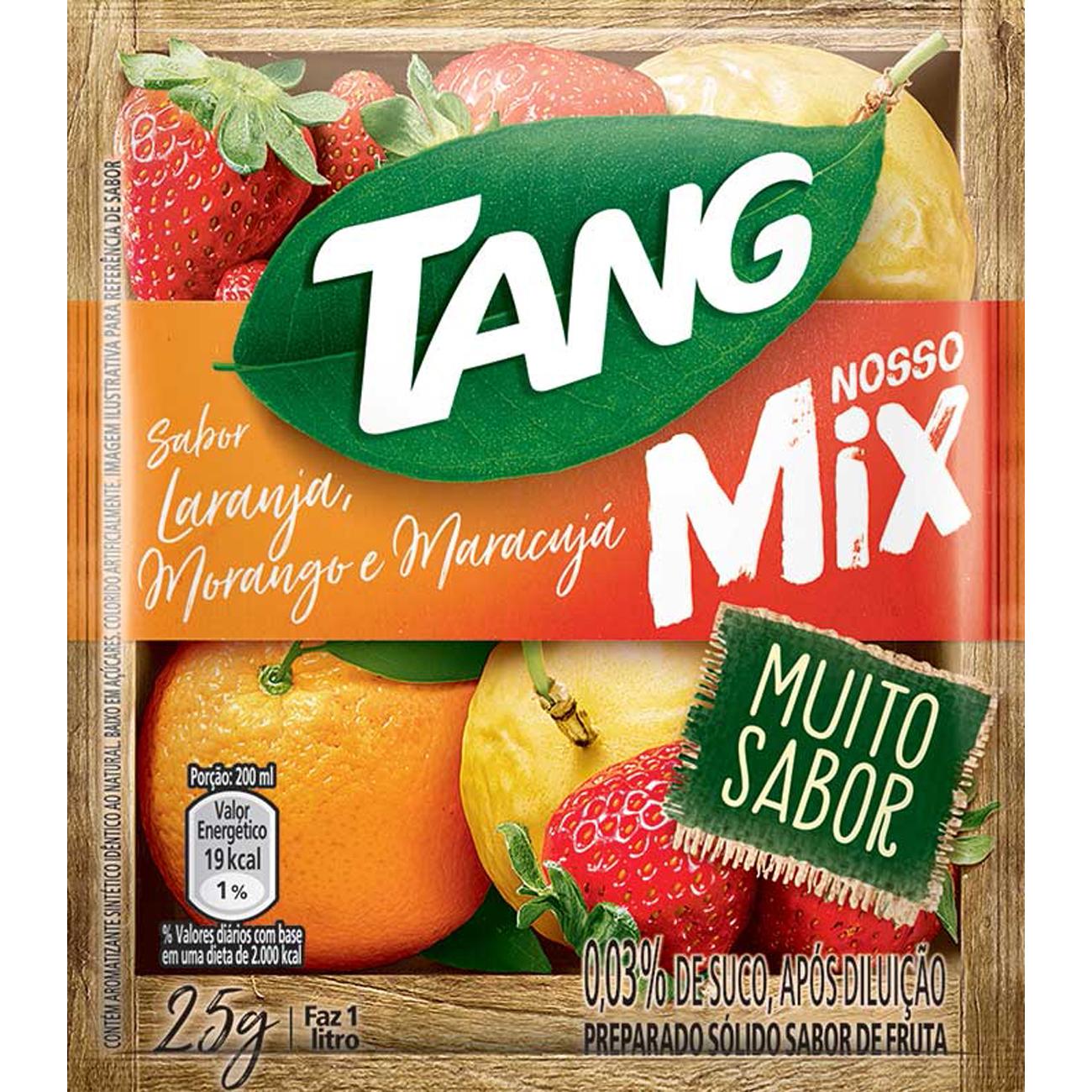 Refresco em Po Tang Mix Laranja, Morango E Maracuja 25G