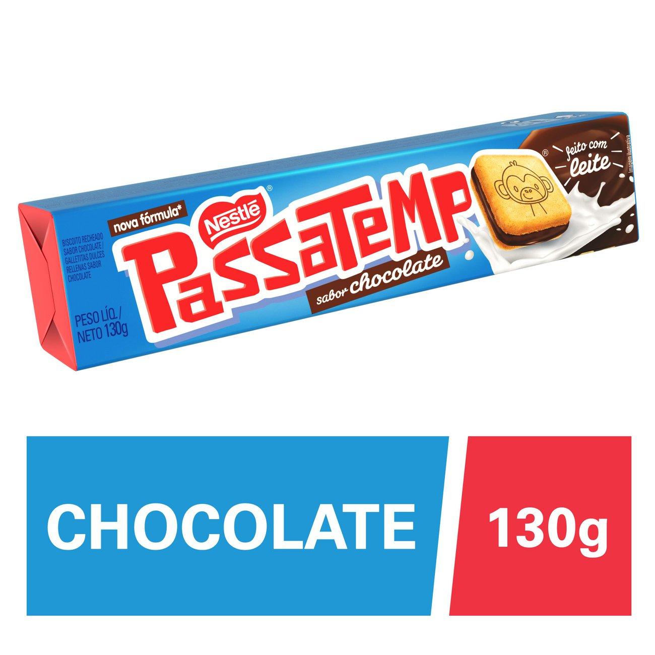 Biscoito Recheado Nestle Passatempo Chocolate 130G